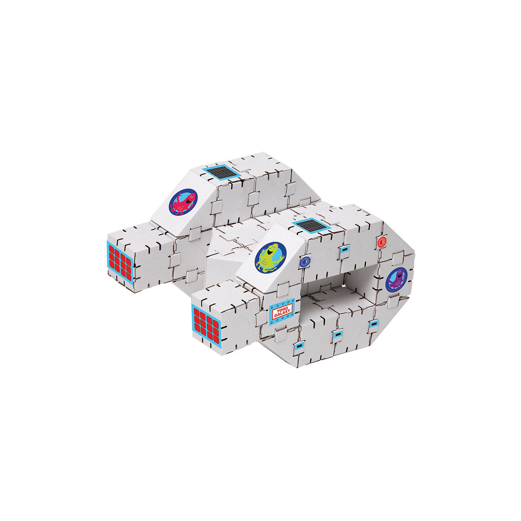 Картонный конструктор Звездолет, YohocubeБренды конструкторов<br>Картонный конструктор Звездолет, Yohocube (Йохокуб). <br><br>Характеристика:<br><br>• Материал: усиленный картон (1,5 мм). <br>• Размер упаковки: 37х31х5,5 см. <br>• Размер одного кубика: 8 см. <br>• 34 детали. <br>• Оригинальный дизайн. <br>• Развивает моторику рук, внимание, пространственное мышление и воображение. <br><br>С помощью этого набора ваш ребенок сможет собрать настоящий звездолет. Все детали набора выполнены из прочного экологичного картона, они надежно и легко крепятся друг к другу, не рассыпаются и не мнутся. Прекрасный подарок на любой праздник! <br>Конструирование - отличный вид творческой деятельности, в процессе которого развивается внимание, моторика рук, пространственное мышление и воображение. <br><br>Картонный конструктор Звездолет, Yohocube (Йохокуб) можно купить в нашем интернет-магазине.<br><br>Ширина мм: 460<br>Глубина мм: 360<br>Высота мм: 60<br>Вес г: 960<br>Возраст от месяцев: 72<br>Возраст до месяцев: 144<br>Пол: Унисекс<br>Возраст: Детский<br>SKU: 5154040