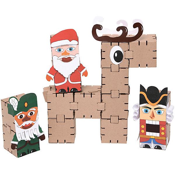 Картонный конструктор Новогодние персонажи, YohocubeБренды конструкторов<br>Картонный конструктор Новогодние персонажи, Yohocube (Йохокуб). <br><br>Характеристика:<br><br>• Материал: усиленный картон (1,5 мм). <br>• Размер упаковки: 37х31х5,5 см. <br>• Размер одного кубика: 8 см. <br>• 14 деталей. <br>• Оригинальный дизайн. <br>• Развивает моторику рук, внимание, пространственное мышление и воображение. <br><br>С помощью этого оригинального конструктора ребенок сможет собрать любимых новогодних персонажей. Размер кубиков идеально подходит для детских рук. Простые и удобные крепления позволят ребенку собирать фигурки без помощи взрослых. Все детали изготовлены из высококачественного прочного картона с применением нетоксичных безопасных красителей. Игры с конструктором полезное и очень увлекательное занятие, развивающее внимание, мелкую моторику, пространственное мышление и воображение. <br><br>Картонный конструктор Новогодние персонажи, Yohocube (Йохокуб), можно купить в нашем интернет-магазине.<br>Ширина мм: 370; Глубина мм: 310; Высота мм: 55; Вес г: 520; Возраст от месяцев: 72; Возраст до месяцев: 144; Пол: Унисекс; Возраст: Детский; SKU: 5154046;