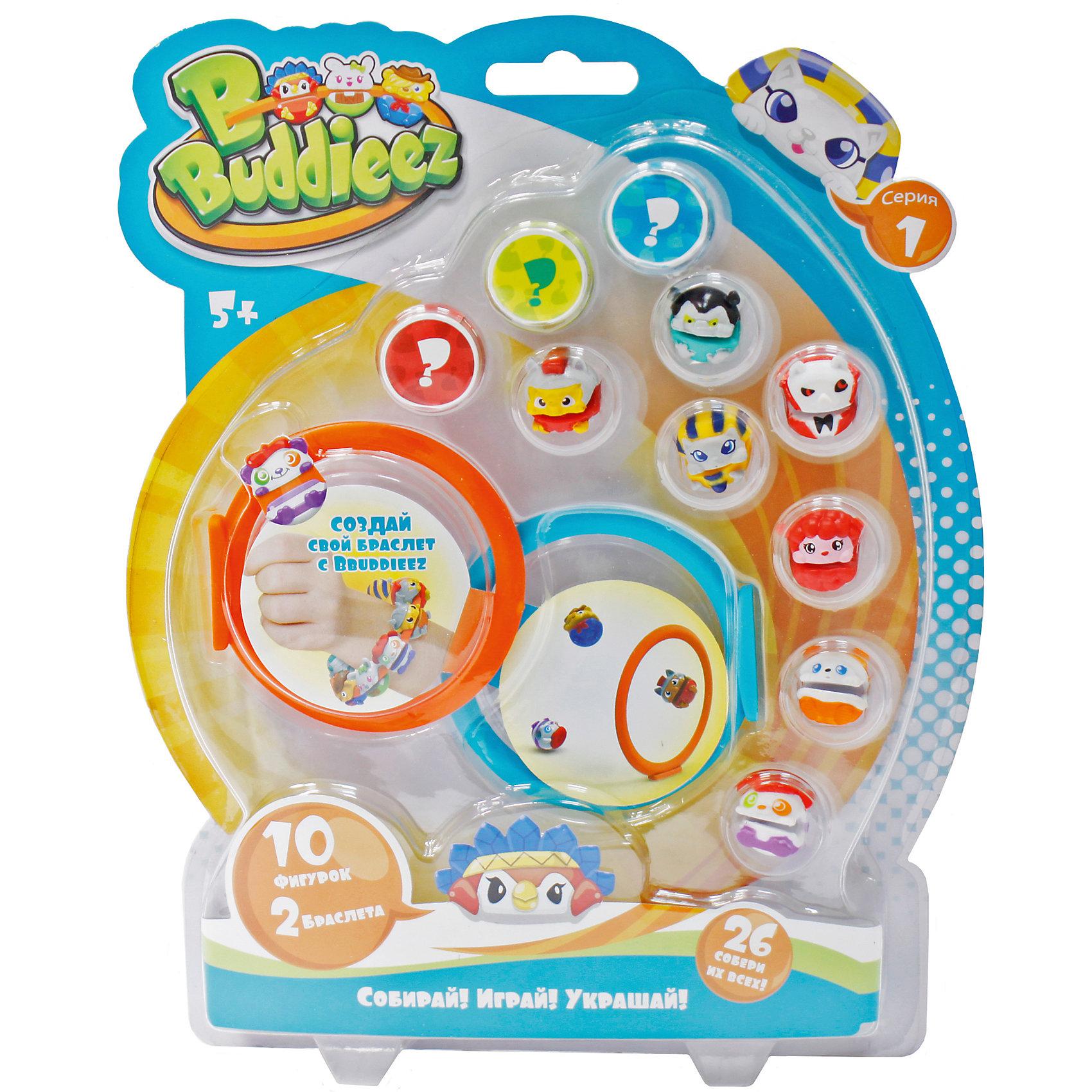 Набор Bbuddieez: 10 шармов-персонажа, 2 браслета, 1toyBbuddieez<br>Набор Bbuddieez: 10 шармов-персонажа, 2 браслета, 1toy (1 той).<br><br>Характеристики:<br><br>• Серия: Вокруг света;<br>• В наборе:<br>-монстрики-зверюшки - 10 шт.,<br>-карточка персонажа – 10 шт.,<br>-силиконовый браслет- 2шт.<br><br>BBuddieez – коллекционные монстрики-шармики для девочек и мальчиков 5-12 лет. Их можно прикреплять к браслетам, шнуркам, волосам, рюкзакам, на ручки и карандаши, на одежду. С монстриками можно придумать различные увлекательные игры, собирать и обмениваться с друзьями. <br>В набор входит 2 силиконовых браслета, 10 монстриков (в ассортименте) и 10 карточек. Собери всю коллекцию!<br><br>Набор Bbuddieez: 10 шармов-персонажа, 2 браслета, 1toy (1 той), можно купить в нашем интернет- магазине.<br><br>Ширина мм: 190<br>Глубина мм: 30<br>Высота мм: 235<br>Вес г: 122<br>Возраст от месяцев: 60<br>Возраст до месяцев: 192<br>Пол: Унисекс<br>Возраст: Детский<br>SKU: 5154268