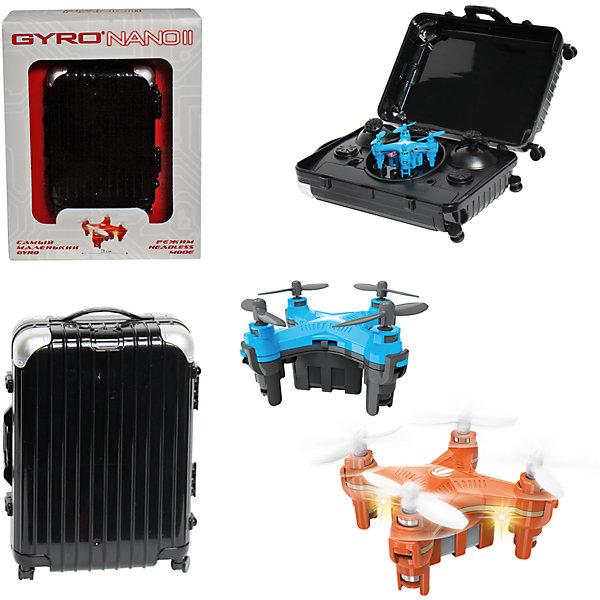 6-осевой Gyro-Nano II квадрокоптер 2,4GHz, 4 канала, в чемоданчике, 1toyИдеи подарков<br>6-осевой Gyro-Nano II квадрокоптер 2,4GHz, 4 канала, в чемоданчике, 1toy (1 той).<br><br>Характеристики:<br><br>• Размеры: 4,5х4,5 см.<br>• Частота управления - 2,4GHz.<br>• Зарядное устройство: USB-кабель.<br>• Зарядка-25мин, полёт-8мин.<br>• Радиус действия: до 50 метров. <br>• Аккумулятор: 3.7V/100mAh.<br>• Пульт работает от 3х батареек ААА (батарейки в комлект не входят).<br><br>Модель Gyro-Nano II прекрасно подходит для начинающих пилотов, которым ранее не приходилось управлять квадрокоптерами. Модель сочетает все лучшие функции более дорогих квадрокоптеров в небольшом корпусе. Благодаря своему миниатюрному размеру в 3 см, квадрокоптер отлично подходит для полётов дома. Модель управляется на частоте 2,4GHz, имеет два скоростных режима, обладает 6-осевым гироскопом, благодаря которому квадрокоптер способен взлетать даже в броске, а также делать сальто на 360°.Интересной особенностью является также и пульт модели, стилизованный под дорожный чемоданчик.<br><br>6-осевой Gyro-Nano II квадрокоптер 2,4GHz, 4 канала, в чемоданчике, 1toy (1 той), можно купить в нашем интернет – магазине.<br>Ширина мм: 185; Глубина мм: 55; Высота мм: 145; Вес г: 233; Возраст от месяцев: 60; Возраст до месяцев: 192; Пол: Мужской; Возраст: Детский; SKU: 5154276;