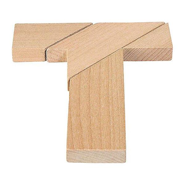 Головоломка T-форма, gokiКлассические головоломки<br>Характеристики товара:<br><br>- цвет: дерево;<br>- материал: дерево;<br>- высокое качество обработки элементов;<br>- деталей: 4;<br>- размер: 10 х 12 см;<br>- упаковка: текстильный мешочек.<br><br>Собирать головоломки любят и дети, и взрослые! Это занятие может не только позволять весело проводить время, но и помогать всестороннему развитию ребенка. Изделие представляет собой детали, из которых нужно собрать фигуру в виде буквы Т. Все детали отлично проработаны, сделаны из натурального дерева!<br>Собирание головоломок поможет формированию разных навыков, оно помогает развить тактильное восприятие, мелкую моторику, воображение, внимание и логику. Изделие произведено из качественных материалов, безопасных для ребенка. Набор станет отличным подарком детям!<br><br>Головоломку T-форма от бренда GOKI можно купить в нашем интернет-магазине.<br><br>Ширина мм: 100<br>Глубина мм: 120<br>Высота мм: 100<br>Вес г: 50<br>Возраст от месяцев: 72<br>Возраст до месяцев: 168<br>Пол: Унисекс<br>Возраст: Детский<br>SKU: 5155290