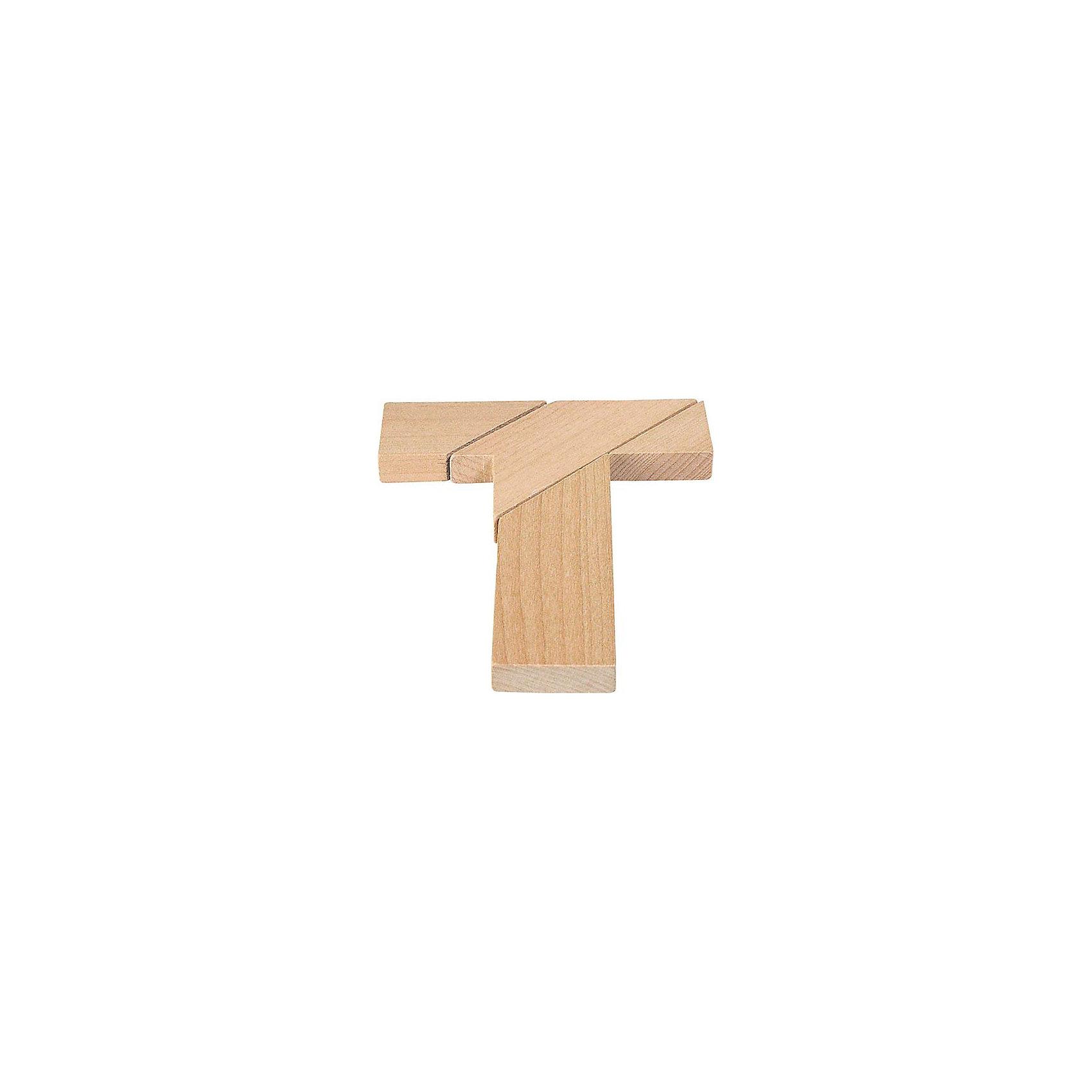 Головоломка T-форма, gokiГоловоломки<br>Характеристики товара:<br><br>- цвет: дерево;<br>- материал: дерево;<br>- высокое качество обработки элементов;<br>- деталей: 4;<br>- размер: 10 х 12 см;<br>- упаковка: текстильный мешочек.<br><br>Собирать головоломки любят и дети, и взрослые! Это занятие может не только позволять весело проводить время, но и помогать всестороннему развитию ребенка. Изделие представляет собой детали, из которых нужно собрать фигуру в виде буквы Т. Все детали отлично проработаны, сделаны из натурального дерева!<br>Собирание головоломок поможет формированию разных навыков, оно помогает развить тактильное восприятие, мелкую моторику, воображение, внимание и логику. Изделие произведено из качественных материалов, безопасных для ребенка. Набор станет отличным подарком детям!<br><br>Головоломку T-форма от бренда GOKI можно купить в нашем интернет-магазине.<br><br>Ширина мм: 100<br>Глубина мм: 120<br>Высота мм: 100<br>Вес г: 50<br>Возраст от месяцев: 72<br>Возраст до месяцев: 168<br>Пол: Унисекс<br>Возраст: Детский<br>SKU: 5155290