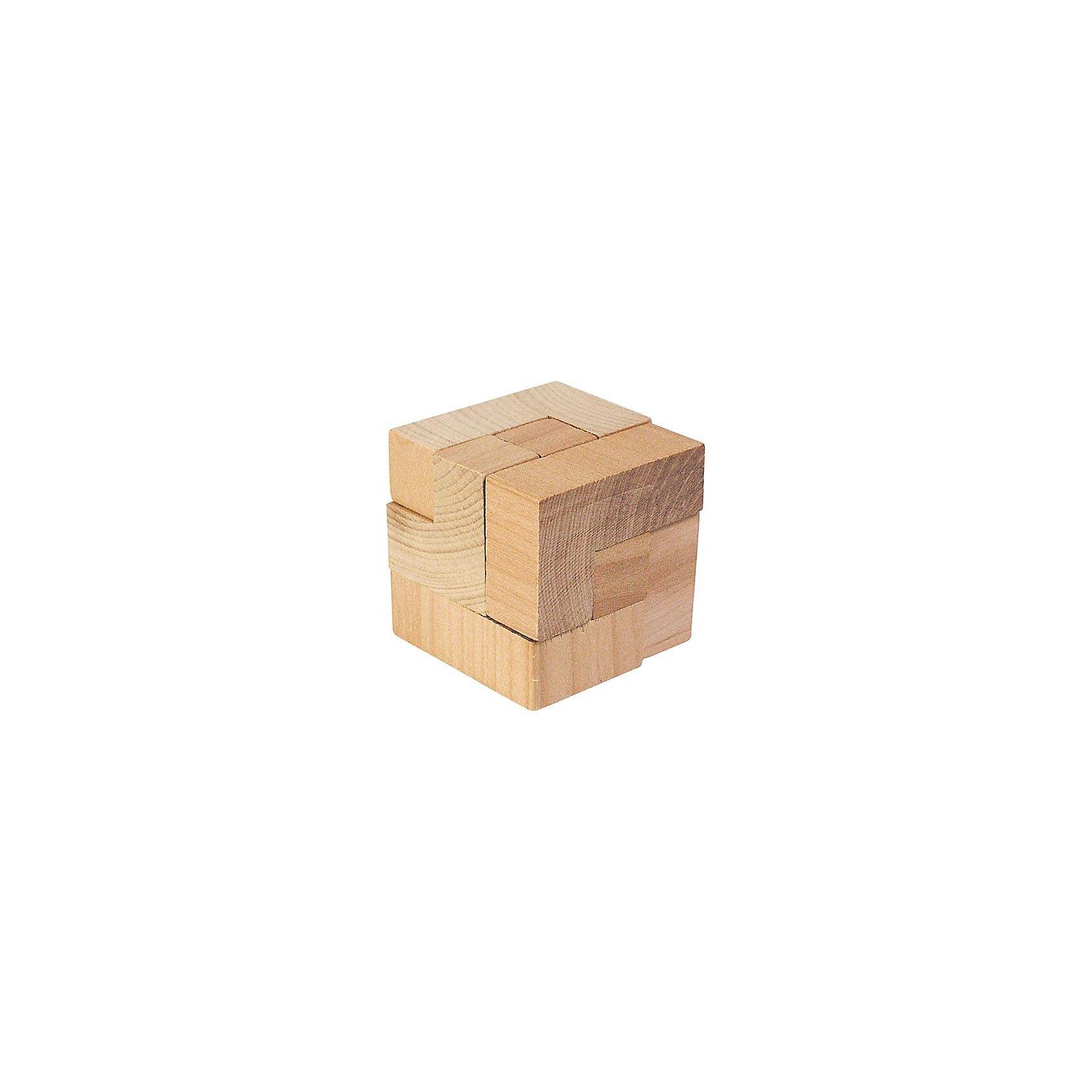 Головоломка Магический куб, gokiХарактеристики товара:<br><br>- цвет: дерево;<br>- материал: дерево;<br>- высокое качество обработки элементов;<br>- размер: 10 х 12 см;<br>- упаковка: текстильный мешочек.<br><br>Собирать головоломки любят и дети, и взрослые! Это занятие может не только позволять весело проводить время, но и помогать всестороннему развитию ребенка. Изделие представляет собой детали, из которых нужно собрать фигуру в виде кубика. Все детали отлично проработаны, сделаны из натурального дерева!<br>Собирание головоломок поможет формированию разных навыков, оно помогает развить тактильное восприятие, мелкую моторику, воображение, внимание и логику. Изделие произведено из качественных материалов, безопасных для ребенка. Набор станет отличным подарком детям!<br><br>Головоломку Магический куб от бренда GOKI можно купить в нашем интернет-магазине.<br><br>Ширина мм: 42<br>Глубина мм: 42<br>Высота мм: 42<br>Вес г: 56<br>Возраст от месяцев: 72<br>Возраст до месяцев: 168<br>Пол: Унисекс<br>Возраст: Детский<br>SKU: 5155291