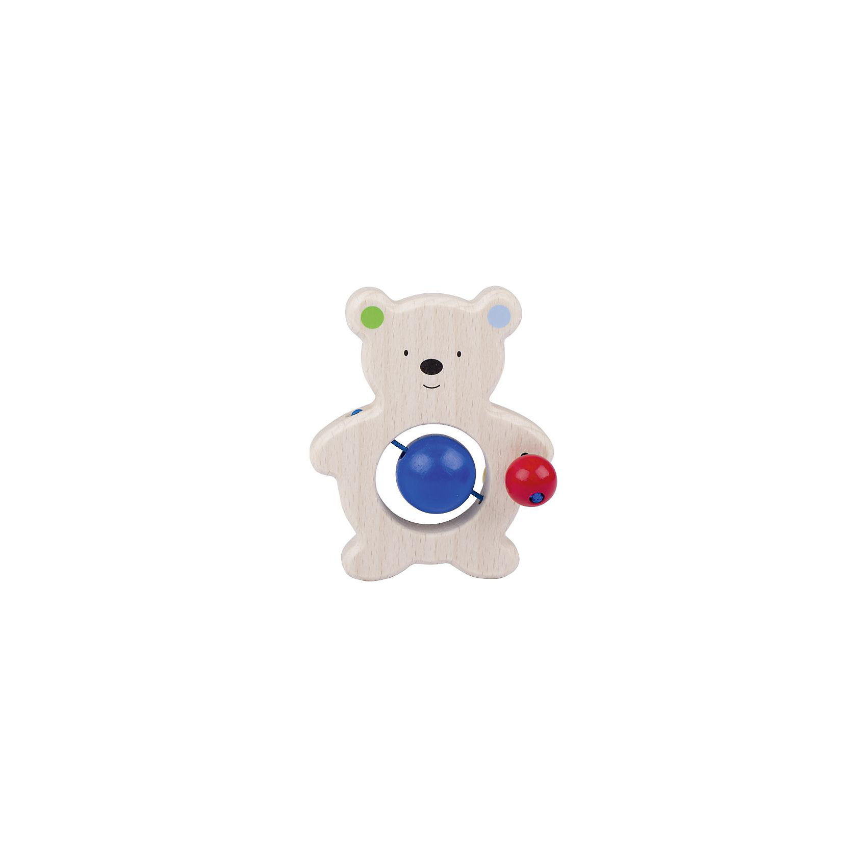 Игрушка Медвежонок с бусинками, HEIMESSХарактеристики товара:<br><br>- цвет: разноцветный;<br>- материал: дерево;<br>- размер упаковки: 10 x 10 x 10 см;<br>- вес: 50 г.<br><br>Детская красивая игрушка – отличный подарок для родителей и ребенка. В процессе игры с ней ребенок развивает моторику, тактильное восприятие, воображение, внимание и координацию движений. Игрушка тщательно обработана, её можно кусать - она сделана из безопасного дерева. Игрушка разработана специально для маленьких ручек ребёнка. <br>Такая игрушка позволит малышу с детства развивать цветовосприятие, также она помогает детям научиться фокусировать внимание. Изделие произведено из качественных материалов, безопасных для ребенка.<br><br>Игрушку Медвежонок с бусинками от бренда HEIMESS можно купить в нашем интернет-магазине.<br><br>Ширина мм: 100<br>Глубина мм: 100<br>Высота мм: 100<br>Вес г: 50<br>Возраст от месяцев: 3<br>Возраст до месяцев: 24<br>Пол: Унисекс<br>Возраст: Детский<br>SKU: 5155298