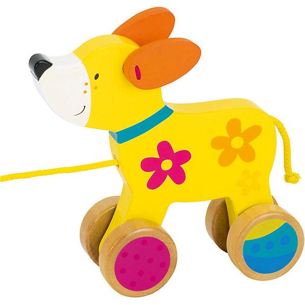 Каталка Собака Susibelle, gokiДеревянные игрушки<br>Характеристики товара:<br><br>- цвет: разноцветный;<br>- материал: дерево;<br>- размер упаковки: 16 x 5 x 15 см;<br>- вес: 225 г.<br><br>Детская красивая игрушка-каталка – отличный подарок для родителей и ребенка. В процессе игры с ней ребенок развивает моторику, тактильное восприятие, воображение, внимание и координацию движений. Собачка занимательно передвигается! Игрушка тщательно обработана, она сделана из безопасного дерева. Игрушка разработана специально для маленьких ручек ребёнка. <br>Такая игрушка позволит малышу с детства развивать цветовосприятие, также она помогает детям научиться фокусировать внимание. Изделие произведено из качественных материалов, безопасных для ребенка.<br><br>Игрушку Каталка Собака Susibelle от бренда GOKI можно купить в нашем интернет-магазине.<br><br>Ширина мм: 160<br>Глубина мм: 50<br>Высота мм: 150<br>Вес г: 225<br>Возраст от месяцев: 12<br>Возраст до месяцев: 36<br>Пол: Унисекс<br>Возраст: Детский<br>SKU: 5155300
