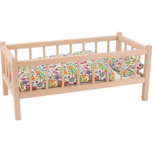 Кроватка для кукол, бук, gokiМебель для кукол<br>Характеристики товара:<br><br>- цвет: бук;<br>- материал: дерево;<br>- возраст: от трех лет;<br>- размер упаковки: 60х29х25.<br><br>ВНИМАНИЕ! Кроватка продается без постельных принадлежностей.<br><br>Эта симпатичная деревянная кроватка приводит детей в восторг! Какая девочка сможет отказаться поиграть с куклами, которые имеют кровать, так похожую на настоящую?! Игрушка очень качественно выполнена, поэтому она станет замечательным подарком ребенку. <br>Игры с куклами помогают девочкам развить важные навыки и отработать модели социального взаимодействия. Изделие произведено из высококачественного материала, безопасного для детей.<br><br>Кроватку для кукол, бук, от бренда GOKI можно купить в нашем интернет-магазине.<br><br>Ширина мм: 600<br>Глубина мм: 290<br>Высота мм: 250<br>Вес г: 2100<br>Возраст от месяцев: 36<br>Возраст до месяцев: 144<br>Пол: Женский<br>Возраст: Детский<br>SKU: 5155303