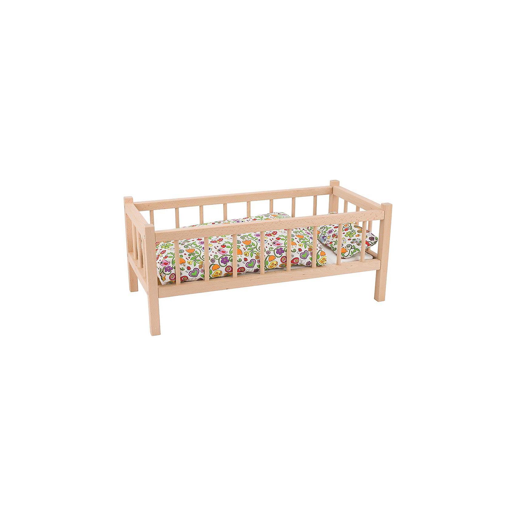Кроватка для кукол, бук, gokiДомики и мебель<br>Характеристики товара:<br><br>- цвет: бук;<br>- материал: дерево;<br>- возраст: от трех лет;<br>- размер упаковки: 60х29х25.<br><br>ВНИМАНИЕ! Кроватка продается без постельных принадлежностей.<br><br>Эта симпатичная деревянная кроватка приводит детей в восторг! Какая девочка сможет отказаться поиграть с куклами, которые имеют кровать, так похожую на настоящую?! Игрушка очень качественно выполнена, поэтому она станет замечательным подарком ребенку. <br>Игры с куклами помогают девочкам развить важные навыки и отработать модели социального взаимодействия. Изделие произведено из высококачественного материала, безопасного для детей.<br><br>Кроватку для кукол, бук, от бренда GOKI можно купить в нашем интернет-магазине.<br><br>Ширина мм: 600<br>Глубина мм: 290<br>Высота мм: 250<br>Вес г: 2100<br>Возраст от месяцев: 36<br>Возраст до месяцев: 144<br>Пол: Женский<br>Возраст: Детский<br>SKU: 5155303