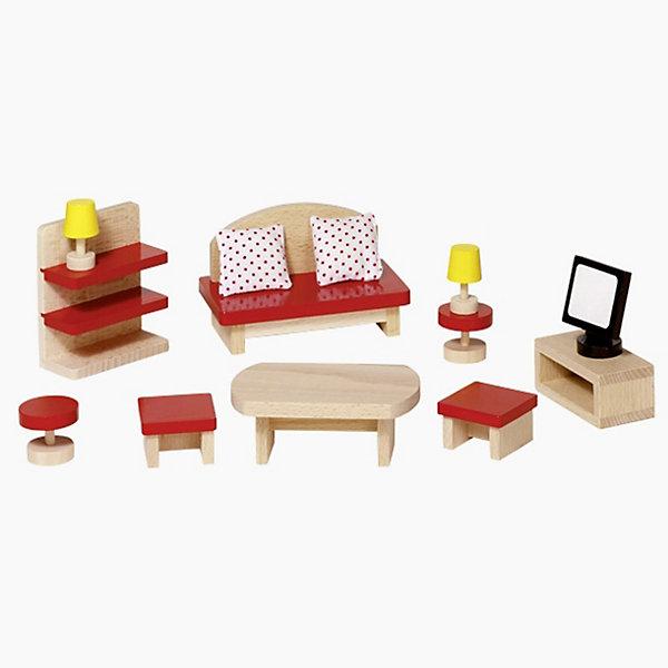 Мебель для кукольной гостиной красная, gokiМебель для кукол<br>Характеристики товара:<br><br>- цвет: разноцветный;<br>- материал: дерево;<br>- возраст: от трех лет;<br>- комплектация: 13 предмета.<br><br>Этот симпатичный набор из множества предметов, необходимых в кукольной гостиной, приводит детей в восторг! Какая девочка сможет отказаться поиграть с куклами, которые имеют гостиную, так похожую на настоящую?! В набор входят самые необходимые для этого помещения вещи. Игрушки очень качественно выполнены, поэтому набор станет замечательным подарком ребенку. <br>Продается набор в красивой удобной упаковке. Игры с куклами помогают девочкам развить важные навыки и отработать модели социального взаимодействия. Изделие произведено из высококачественного материала, безопасного для детей.<br><br>Мебель для кукольной гостиной от германского бренда GOKI можно купить в нашем интернет-магазине.<br>Ширина мм: 80; Глубина мм: 80; Высота мм: 80; Вес г: 383; Возраст от месяцев: 36; Возраст до месяцев: 144; Пол: Женский; Возраст: Детский; SKU: 5155315;