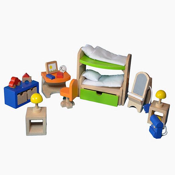 Мебель для кукольной детской с двухэтажной кроватью, gokiМебель для кукол<br>Характеристики товара:<br><br>- цвет: разноцветный;<br>- материал: дерево;<br>- возраст: от трех лет;<br>- комплектация: 28 предметов.<br><br>Этот симпатичный набор из множества предметов, необходимых в кукольной детской, приводит детей в восторг! Какая девочка сможет отказаться поиграть с куклами, которые имеют детскую, так похожую на настоящую?! В набор входят самые необходимые для этого помещения вещи. Игрушки очень качественно выполнены, поэтому набор станет замечательным подарком ребенку. <br>Продается набор в красивой удобной упаковке. Игры с куклами помогают девочкам развить важные навыки и отработать модели социального взаимодействия. Изделие произведено из высококачественного материала, безопасного для детей.<br><br>Мебель для кукольной детской с двухэтажной кроватью от германского бренда GOKI можно купить в нашем интернет-магазине.<br><br>Ширина мм: 104<br>Глубина мм: 104<br>Высота мм: 104<br>Вес г: 478<br>Возраст от месяцев: 36<br>Возраст до месяцев: 144<br>Пол: Женский<br>Возраст: Детский<br>SKU: 5155317