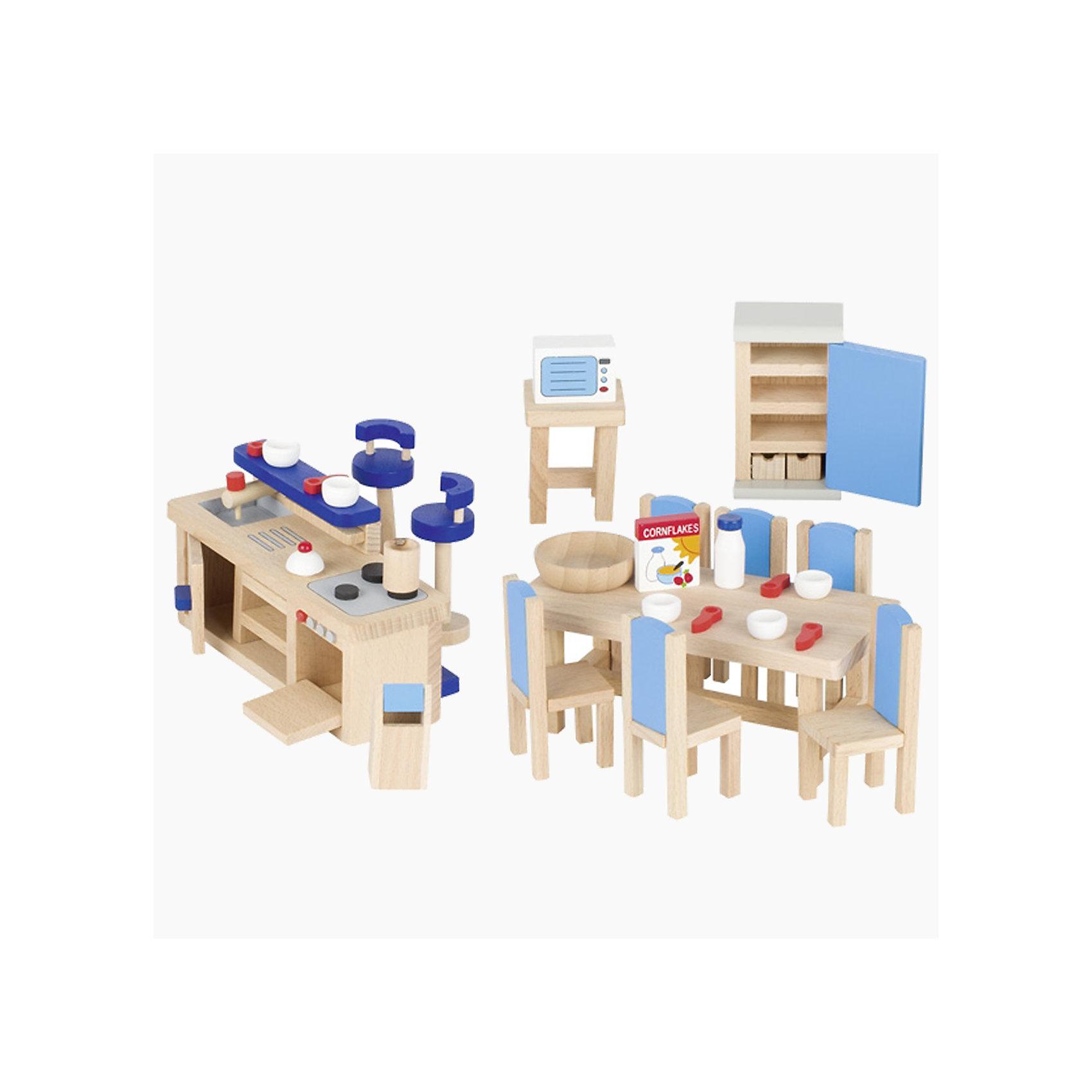 Мебель для кукольной кухни modern синяя, gokiХарактеристики товара:<br><br>- цвет: разноцветный;<br>- материал: дерево;<br>- возраст: от трех лет;<br>- комплектация: 30 предметов.<br><br>Этот симпатичный набор из множества предметов, необходимых на кукольной кухне, приводит детей в восторг! Какая девочка сможет отказаться поиграть с куклами, которые имеют кухню, так похожую на настоящую?! В набор входят самые необходимые для этого помещения вещи. Игрушки очень качественно выполнены, поэтому набор станет замечательным подарком ребенку. <br>Продается набор в красивой удобной упаковке. Игры с куклами помогают девочкам развить важные навыки и отработать модели социального взаимодействия. Изделие произведено из высококачественного материала, безопасного для детей.<br><br>Мебель для кукольной кухни modern синяя от бренда GOKI можно купить в нашем интернет-магазине.<br><br>Ширина мм: 143<br>Глубина мм: 143<br>Высота мм: 143<br>Вес г: 621<br>Возраст от месяцев: 36<br>Возраст до месяцев: 144<br>Пол: Женский<br>Возраст: Детский<br>SKU: 5155318