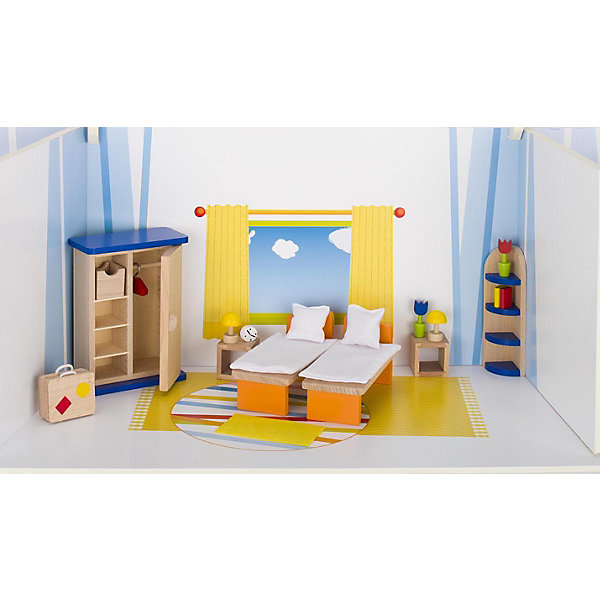 Мебель для кукольной спальни, gokiМебель для кукол<br>Характеристики товара:<br><br>- цвет: разноцветный;<br>- материал: дерево;<br>- возраст: от трех лет;<br>- комплектация: 21 предмет.<br><br>Этот симпатичный набор из множества предметов, необходимых в кукольной спальне, приводит детей в восторг! Какая девочка сможет отказаться поиграть с куклами, которые имеют спальню, так похожую на настоящую?! В набор входят самые необходимые для этого помещения вещи. Игрушки очень качественно выполнены, поэтому набор станет замечательным подарком ребенку. <br>Продается набор в красивой удобной упаковке. Игры с куклами помогают девочкам развить важные навыки и отработать модели социального взаимодействия. Изделие произведено из высококачественного материала, безопасного для детей.<br><br>Мебель для кукольной спальни от германского бренда GOKI можно купить в нашем интернет-магазине.<br>Ширина мм: 145; Глубина мм: 145; Высота мм: 145; Вес г: 563; Возраст от месяцев: 36; Возраст до месяцев: 144; Пол: Женский; Возраст: Детский; SKU: 5155319;