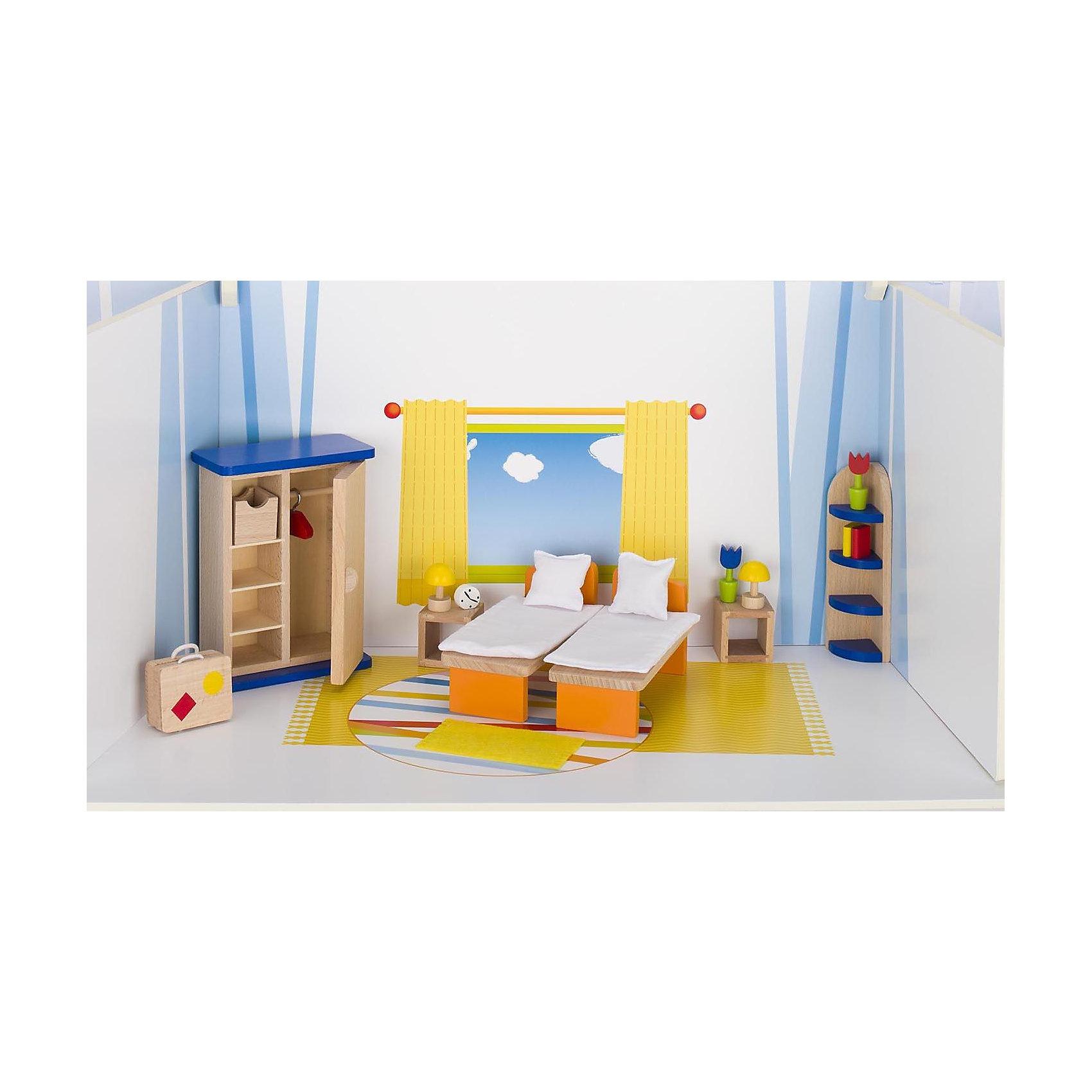 Мебель для кукольной спальни, gokiДомики и мебель<br>Характеристики товара:<br><br>- цвет: разноцветный;<br>- материал: дерево;<br>- возраст: от трех лет;<br>- комплектация: 21 предмет.<br><br>Этот симпатичный набор из множества предметов, необходимых в кукольной спальне, приводит детей в восторг! Какая девочка сможет отказаться поиграть с куклами, которые имеют спальню, так похожую на настоящую?! В набор входят самые необходимые для этого помещения вещи. Игрушки очень качественно выполнены, поэтому набор станет замечательным подарком ребенку. <br>Продается набор в красивой удобной упаковке. Игры с куклами помогают девочкам развить важные навыки и отработать модели социального взаимодействия. Изделие произведено из высококачественного материала, безопасного для детей.<br><br>Мебель для кукольной спальни от германского бренда GOKI можно купить в нашем интернет-магазине.<br><br>Ширина мм: 145<br>Глубина мм: 145<br>Высота мм: 145<br>Вес г: 563<br>Возраст от месяцев: 36<br>Возраст до месяцев: 144<br>Пол: Женский<br>Возраст: Детский<br>SKU: 5155319