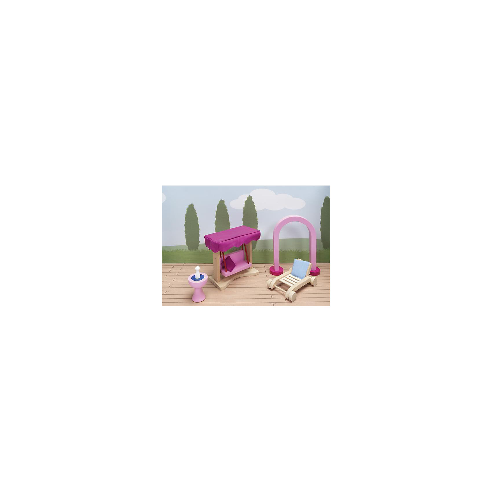 Мебель кукольная садовая (дворец), gokiДомики и мебель<br>Характеристики товара:<br><br>- цвет: разноцветный;<br>- материал: дерево;<br>- возраст: от трех лет;<br>- комплектация: 66 предметов.<br><br>Этот симпатичный набор из множества предметов, необходимых в кукольном саду, приводит детей в восторг! Какая девочка сможет отказаться поиграть с куклами, которые имеют садовую мебель, так похожую на настоящую?! В набор входят самые необходимые для обустройства зоны отдыха у дома вещи. Игрушки очень качественно выполнены, поэтому набор станет замечательным подарком ребенку. <br>Продается набор в красивой удобной упаковке. Игры с куклами помогают девочкам развить важные навыки и отработать модели социального взаимодействия. Изделие произведено из высококачественного материала, безопасного для детей.<br><br>Мебель кукольную садовую (дворец) от германского бренда GOKI можно купить в нашем интернет-магазине.<br><br>Ширина мм: 123<br>Глубина мм: 123<br>Высота мм: 123<br>Вес г: 450<br>Возраст от месяцев: 36<br>Возраст до месяцев: 144<br>Пол: Женский<br>Возраст: Детский<br>SKU: 5155320