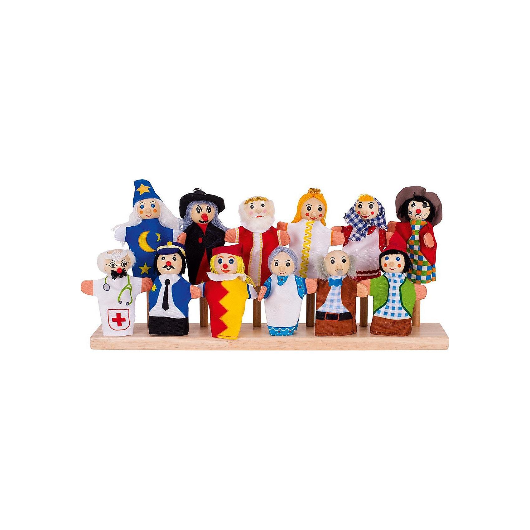 Театр на пальчик Набор 12 в 1, gokiИгрушки для малышей<br>Характеристики товара:<br><br>- цвет: разноцветный;<br>- материал: дерево, текстиль;<br>- комплектация: 12 кукол;<br>- возраст: от трех лет;<br>- вес: 174 г.<br><br>Эти симпатичные куклы для пальцев приводят детей в восторг! Какой ребенок отказаться поиграть с фигуркой, с помощью которой можно разыграть разные сценки?! Игрушки очень качественно выполнены, поэтому они станут замечательным подарком ребенку. <br>Игры с такими куклами помогают детям развить важные навыки (мелкую моторику, воображение, логику), а также развить творческие способности и отработать модели социального взаимодействия. Изделие произведено из высококачественного материала, безопасного для детей.<br><br>Театр на пальчик Набор 12 в 1 от бренда GOKI можно купить в нашем интернет-магазине.<br><br>Ширина мм: 110<br>Глубина мм: 110<br>Высота мм: 110<br>Вес г: 174<br>Возраст от месяцев: 36<br>Возраст до месяцев: 72<br>Пол: Унисекс<br>Возраст: Детский<br>SKU: 5155324