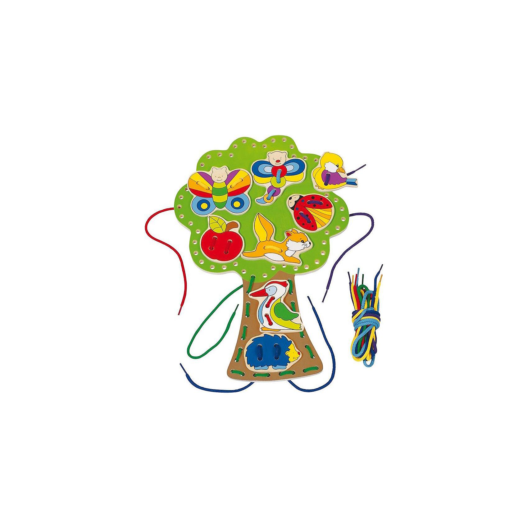 Шнуровка Дерево, gokiХарактеристики товара:<br><br>- цвет: разноцветный;<br>- материал: дерево;<br>- размер: 24х36 см;<br>- вес: 430 г;<br>- развивающая.<br><br>Детская яркая шнуровка – отличный подарок для ребенка. В процессе игры с ней ребенок развивает моторику, тактильное восприятие, воображение, внимание и координацию движений. Игрушка придумана для того, чтобы малыш мог также быстрее научиться шнуровать обувь самостоятельно. <br>Такая игрушка позволит малышу с детства развивать цветовосприятие, также она помогает детям научиться фокусировать внимание. Изделие произведено из качественных материалов, безопасных для ребенка.<br><br>Шнуровку Дерево от бренда GOKI можно купить в нашем интернет-магазине.<br><br>Ширина мм: 240<br>Глубина мм: 360<br>Высота мм: 10<br>Вес г: 430<br>Возраст от месяцев: 36<br>Возраст до месяцев: 72<br>Пол: Унисекс<br>Возраст: Детский<br>SKU: 5155325