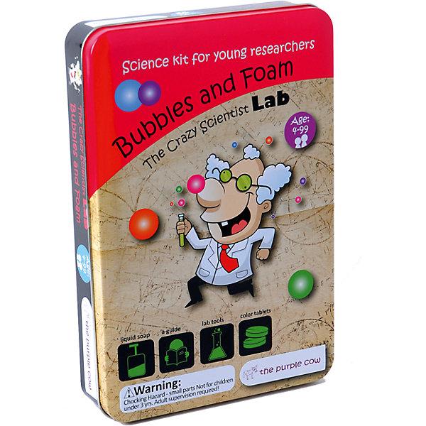 Набор для опытов The Purple Cow Лаборатория пузырьков и пеныХимия и физика<br>Характеристики:<br><br>• возраст: 4+;<br>• материал: пластик, металл, стекло;<br>• упаковка: бокс;<br>• габариты упаковки: 24,5х16,5х4 см;<br>• вес: 320 г.<br><br>Необычный набор опытов из серии «Лаборатория сумасшедшего ученого» - хороший подарок для мальчиков и девочек. В комплект входит все необходимое для создания забавных пузырьков и волшебной пены. <br><br>Увлекательная игра поможет ребятам сделать много полезных наблюдений. Проведение интересных опытов и экспериментов не требует специальных навыков. Все задания элементарны в исполнении и дарят много положительных эмоций. <br><br>Выполняя задания, малыши весело проведут время и научатся выдувать мыльные пузыри.<br><br>Набор для опытов «Лаборатория пузырьков и пены», The Purple Cow можно приобрести в нашем интернет-магазине.<br>Ширина мм: 24; Глубина мм: 4; Высота мм: 16; Вес г: 600; Возраст от месяцев: 72; Возраст до месяцев: 144; Пол: Унисекс; Возраст: Детский; SKU: 5156079;