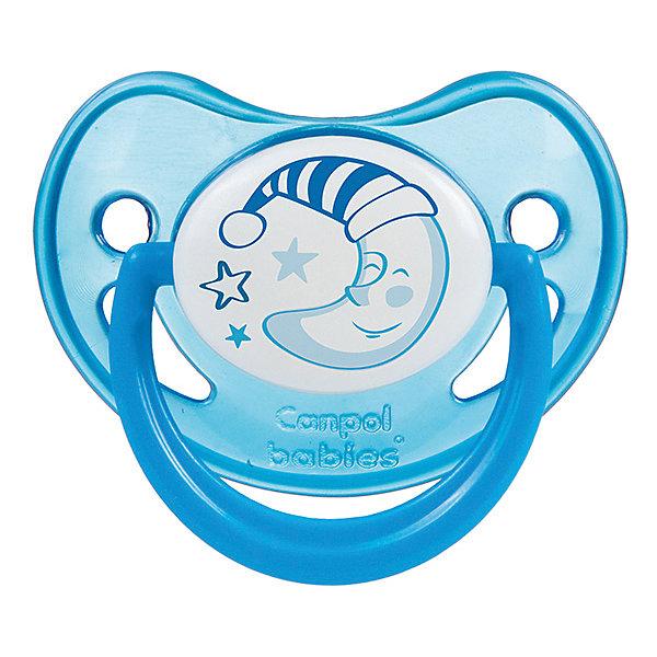 Пустышка анатомическая силиконовая, 6-18 Night Dreams, Canpol Babies, синийПустышки<br>Характеристики:<br><br>• Наименование: пустышка<br>• Пол: для мальчика<br>• Материал: силикон, пластик<br>• Цвет: синий, белый<br>• Форма: анатомическая<br>• Наличие отверстий для вентиляции<br>• Наличие кольца для держателя<br>• Особенности ухода: регулярная стерилизация и своевременная замена<br><br>Пустышка анатомическая силиконовая, 6-18 Night Dreams, Canpol Babies, синий имеет специальную форму, которая обеспечивает правильное давление на небо. Изготовлена из запатентованного вида силикона, который не имеет запаха. При правильном уходе обеспечивает длительное использование. У соски имеется классический ограничитель с отверстиями для вентиляции и кольцо для держателя, которое светится в темноте. Пустышка анатомическая силиконовая, 6-18 Night Dreams, Canpol Babies, синий выполнена в ярком дизайне с изображением звезд и месяца.<br><br>Пустышку анатомическую силиконовую, 6-18 Night Dreams, Canpol Babies, синюю можно купить в нашем интернет-магазине.<br><br>Ширина мм: 95<br>Глубина мм: 45<br>Высота мм: 155<br>Вес г: 110<br>Возраст от месяцев: 6<br>Возраст до месяцев: 18<br>Пол: Мужской<br>Возраст: Детский<br>SKU: 5156625