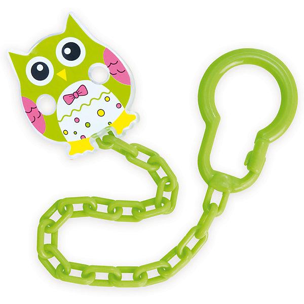 Клипса-держатель для пустышек Сова, 0+, Canpol Babies, зеленый