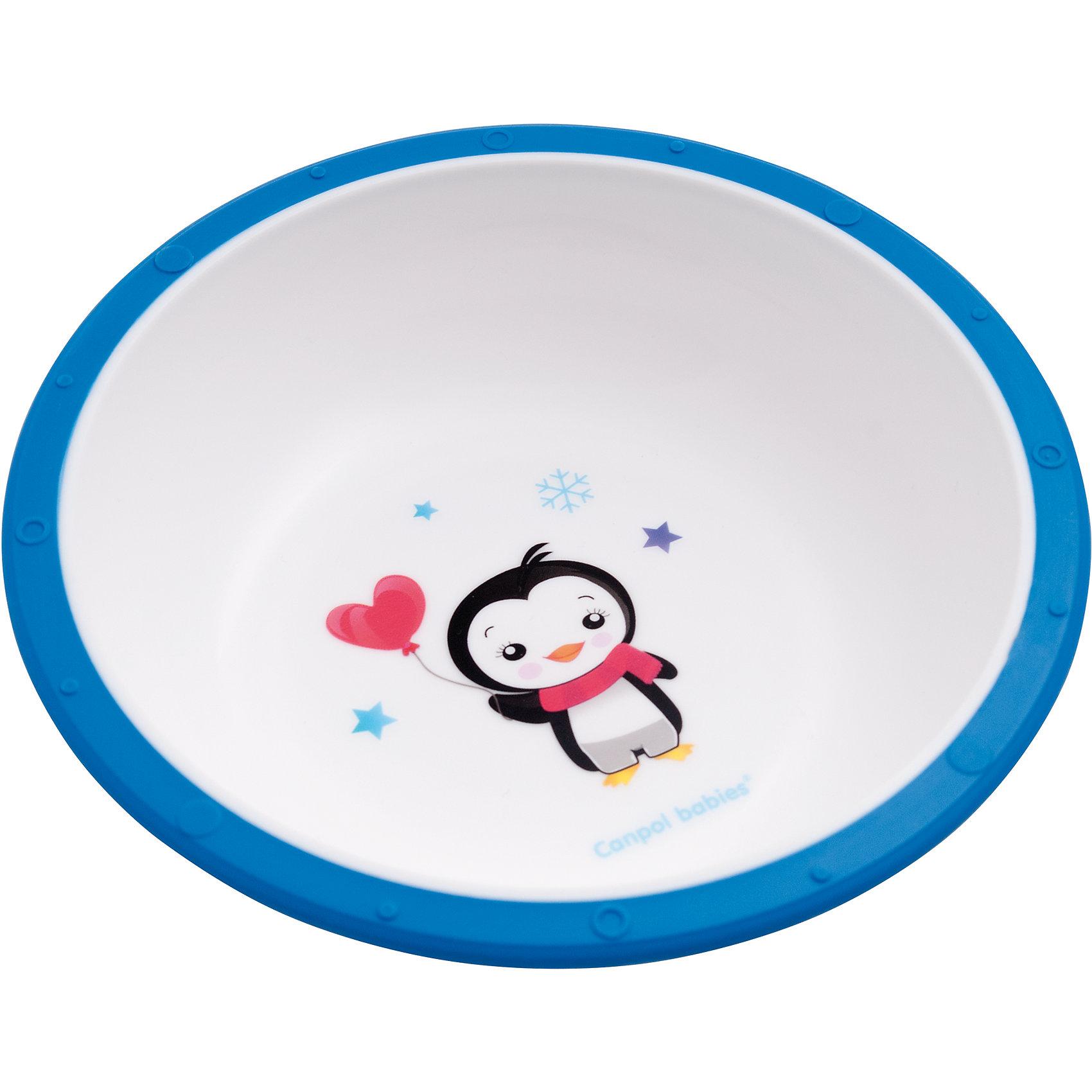 Миска пластиковая Little cow, 4+ , Canpol Babies, синийМиска пластиковая Little cow, 4+ , Canpol Babies (Канпол Беби), синий пингвиненок.<br><br>Характеристики:<br><br>• антискользящее дно<br>• приятный дизайн<br>• материал: пластик<br>• объем: 270 мл<br>• размер: 16х16х5,5 см<br><br>Пластиковая миска Little cow отлично подойдет для малышей, которые учатся есть самостоятельно. Миска имеет антискользящее дно, которое будет препятствовать опрокидыванию посуды во время еды. Она изготовлена из прочного пластика. Устойчивый рисунок поможет малышу всё скушать, чтобы поскорее увидеть забавного пингвиненка!<br><br>Миску пластиковую Little cow, 4+ , Canpol Babies (Канпол Беби), синий пингвиненок можно купить в нашем интернет-магазине.<br><br>Ширина мм: 160<br>Глубина мм: 55<br>Высота мм: 160<br>Вес г: 730<br>Возраст от месяцев: 4<br>Возраст до месяцев: 36<br>Пол: Мужской<br>Возраст: Детский<br>SKU: 5156683