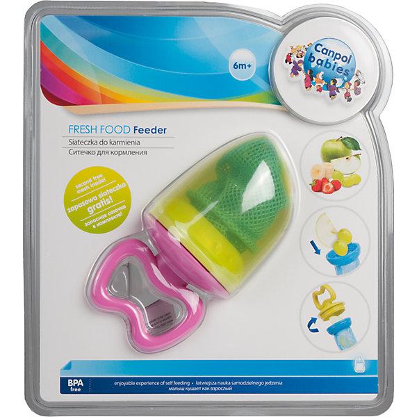 Ситечко для кормления 6+, Canpol Babies, зеленыйНиблеры<br>Ситечко для кормления 6+, Canpol Babies (КАНПОЛ БЕБИ), зеленый.<br><br>Характеристики:<br>• ручка удобна для ребенка<br>• есть защитный колпачок<br>• изготовлено из безопасных гипоаллергенных материалов<br>• материал: пластик, прочный текстиль<br>• размер упаковки: 21,5х17х7,5 см<br>• вес: 100 грамм<br>• цвет: зеленый<br><br>Ситечко Canpol Babies предназначено для малышей от 5 месяцев до года. С его помощью ребенок сможет плавно перейти от жидкой пищи к твердой. Положите фрукты, овощи или печенье в сеточку, закрепите ее - еда готова. Малыш сможет получить все полезные элементы из продуктов, не боясь подавиться. Удобная ручка позволит ребенку пользоваться ситечком самостоятельно. Яркий дизайн и удобная форма, несомненно, понравятся вашей крохе!<br><br>Ситечко для кормления 6+, Canpol Babies (КАНПОЛ БЕБИ), зеленый можно купить в нашем интернет-магазине.<br><br>Ширина мм: 170<br>Глубина мм: 75<br>Высота мм: 215<br>Вес г: 370<br>Возраст от месяцев: 6<br>Возраст до месяцев: 36<br>Пол: Унисекс<br>Возраст: Детский<br>SKU: 5156691