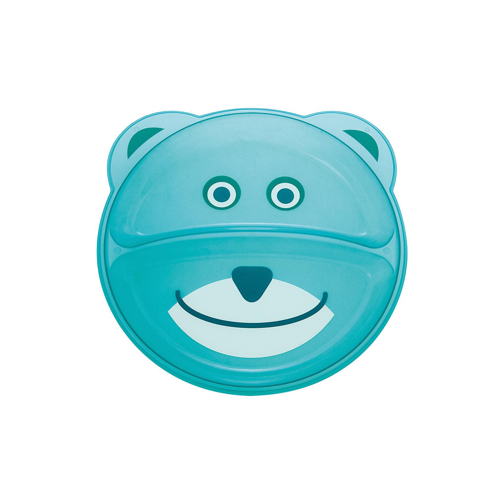 Тарелка с разделением Animals Мишка, 9+, Canpol Babies, бирюзовыйТарелка с разделением Animals Мишка, 9+, Canpol Babies (Канпол беби), бирюзовый.<br><br>Характеристики:<br>• есть 2 отсека для еды<br>• не содержит бисфенол-А<br>• можно использовать в микроволновой печи и посудомоечной машине<br>• интересный дизайн<br>• размер упаковки: 2х17,7х21,5 см<br>• вес: 100 грамм<br>• объем: 400 мл<br>• цвет: бирюзовый<br>• материал: пластик <br><br>Тарелка Мишка изготовлена из качественного пластика и не содержит бисфенол-А. Тарелка имеет 2 отсека для еды. Вы сможете подать отдельно мясо и гарнир или кашу и фрукты. Посуда выполнена в виде улыбающегося мишки, который с удовольствием покажет крохе свою мордашку после обеда. Такая веселая тарелочка превратит прием пищи в веселую игру!<br><br>Тарелку с разделением Animals Мишка, 9+, Canpol Babies (Канпол беби), бирюзовый вы можете купить в нашем интернет-магазине.<br><br>Ширина мм: 20<br>Глубина мм: 215<br>Высота мм: 177<br>Вес г: 390<br>Возраст от месяцев: 9<br>Возраст до месяцев: 36<br>Пол: Унисекс<br>Возраст: Детский<br>SKU: 5156694