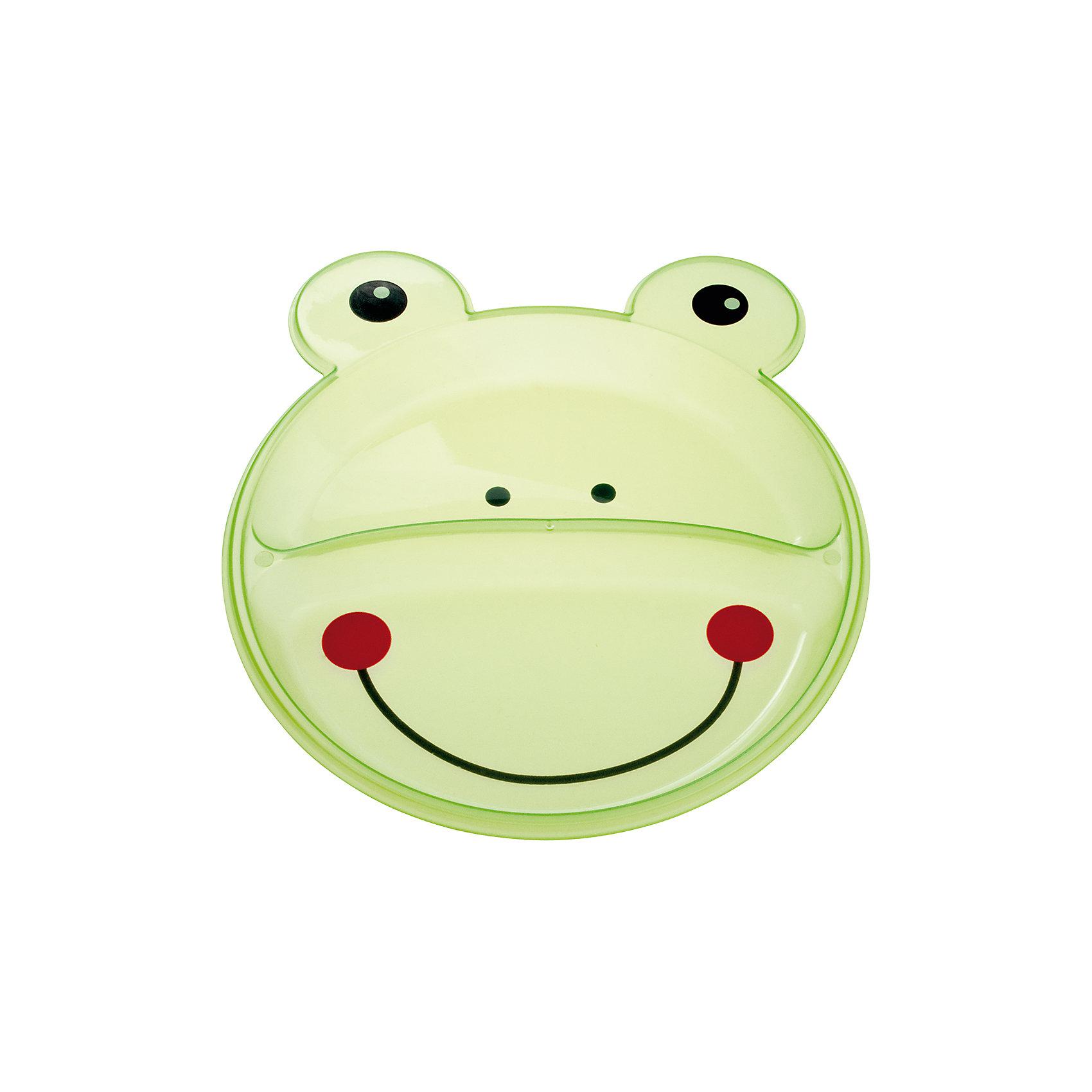 Тарелка с разделением Animals Лягушонок, 9+, Canpol Babies, зеленыйТарелки<br>Тарелка с разделением Animals Лягушонок, 9+, Canpol Babies (Канпол беби), зеленый.<br><br>Характеристики:<br>• есть 2 отсека для еды<br>• не содержит бисфенол-А<br>• можно использовать в микроволновой печи и посудомоечной машине<br>• интересный дизайн<br>• размер упаковки: 2х17,7х21,5 см<br>• вес: 100 грамм<br>• объем: 400 мл<br>• цвет: зеленый<br>• материал: пластик <br><br>Тарелка Лягушонок изготовлена из качественного пластика и не содержит бисфенол-А. Тарелка имеет 2 отсека для еды. Вы сможете подать отдельно мясо и гарнир или кашу и фрукты. Посуда выполнена в виде улыбающегося лягушонка, который с удовольствием покажет крохе свою мордашку после обеда. Такая веселая тарелочка превратит прием пищи в веселую игру!<br><br>Тарелку с разделением Animals Лягушонок, 9+, Canpol Babies (Канпол беби), зеленый вы можете купить в нашем интернет-магазине.<br><br>Ширина мм: 20<br>Глубина мм: 215<br>Высота мм: 177<br>Вес г: 390<br>Возраст от месяцев: 9<br>Возраст до месяцев: 36<br>Пол: Унисекс<br>Возраст: Детский<br>SKU: 5156697