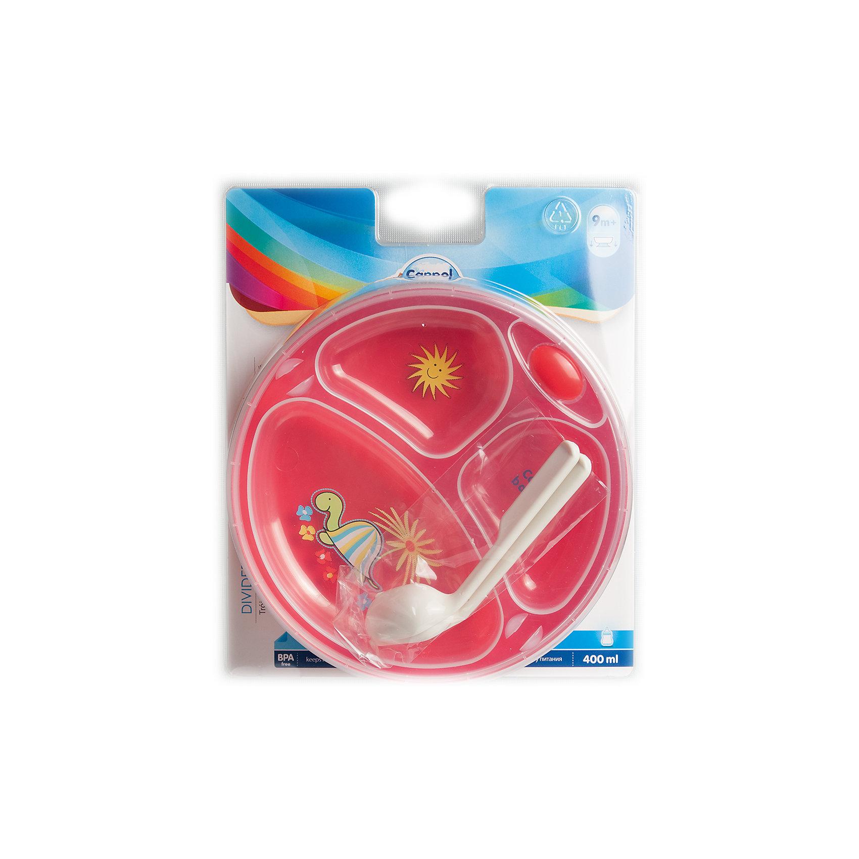 Термотарелка с ложкой и вилкой Colourful animals, 9+, Canpol Babies, красныйНаборы посуды<br>Термотарелка с ложкой и вилкой Colourful animals, 9+, Canpol Babies (Канпол беби), красный.<br><br>Характеристики:<br>• есть три отсека для еды<br>• антискользящее дно<br>• ложка и вилка в комплекте<br>• материалы безопасны для ребенка<br>• размер: 20х20х10<br>• вес: 200 грамм<br>• цвет: красный<br>• материал: полипропилен <br>• объем: 120 мл<br><br>Термотарелка Colourful animals сохранит еду для малыша теплой в течение длительного времени. Специальный замочек плотно закрывает резервуар для теплой воды. Тарелка имеет три отсека, что очень удобно при подаче нескольких блюд, которые не желательно смешивать. В комплект входят ложка и вилка с удобной ручкой. Тарелка имеет антискользящее дно, благодаря которому малыш не сможет опрокинуть посуду. Интересный рисунок на дне стимулирует интерес к пище. С этой тарелкой кроха будет есть с удовольствием!<br><br>Термотарелка с ложкой и вилкой Colourful animals, 9+, Canpol Babies (Канпол беби), красный вы можете купить в нашем интернет-магазине.<br><br>Ширина мм: 220<br>Глубина мм: 65<br>Высота мм: 260<br>Вес г: 1900<br>Возраст от месяцев: 9<br>Возраст до месяцев: 36<br>Пол: Унисекс<br>Возраст: Детский<br>SKU: 5156698