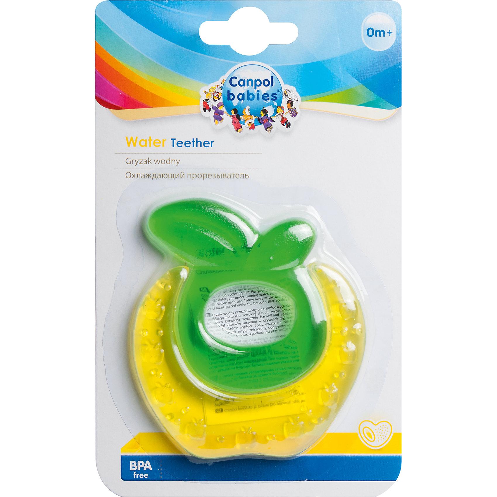 Прорезыватель водный охлаждающий Ягодка 0+ Fruits, Canpol Babies, желтыйПрорезыватели<br>Прорезыватель водный охлаждающий Ягодка 0+ Fruits, Canpol Babies (Канпол Беби), желтый.<br><br>Характеристики:<br>• облегчает боль и снимает зуд<br>• изготовлен из безопасных материалов<br>• наполнен дистиллированной водой<br>• материал: нетоксичный пластик, вода<br>• размер упаковки: 18,5х11,5х1 см<br>• цвет: желтый<br><br>Прорезыватель Ягодка снимет зуд и сведет к минимуму неприятные ощущения в деснах при прорезывании зубов. Для этого нужно положить игрушку в холодильник на несколько минут. Удобная ручка позволит ребенку держать прорезыватель самостоятельно. Яркая расцветка <br>привлечет внимание ребенка и он с удовольствием воспользуется волшебным помощником!<br><br>Прорезыватель водный охлаждающий Ягодка 0+ Fruits, Canpol Babies (Канпол Беби), желтый можно купить в нашем интернет-магазине.<br><br>Ширина мм: 115<br>Глубина мм: 10<br>Высота мм: 185<br>Вес г: 470<br>Возраст от месяцев: 0<br>Возраст до месяцев: 12<br>Пол: Унисекс<br>Возраст: Детский<br>SKU: 5156702