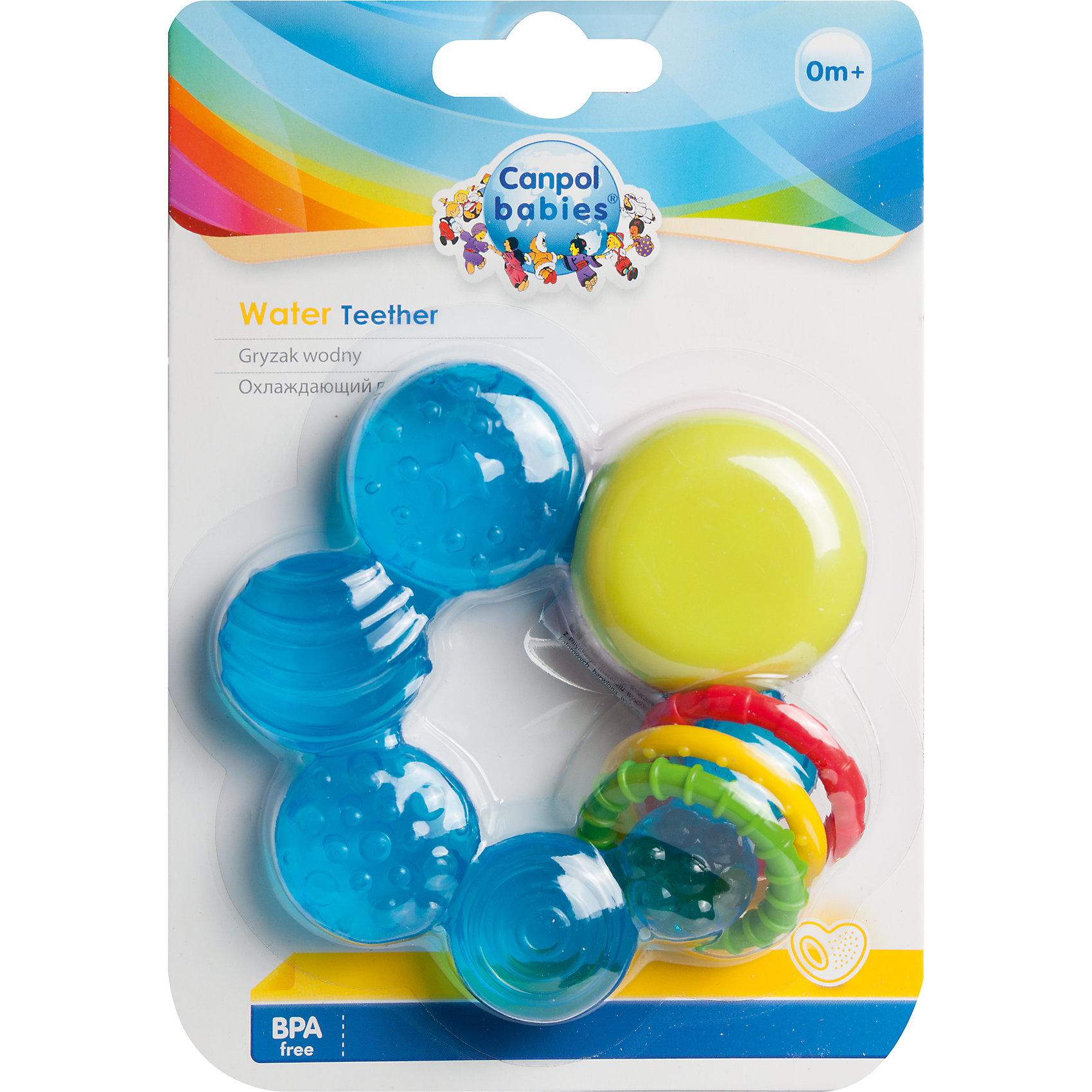 Прорезыватель водный охлаждающий Руль, 0+, Canpol Babies, синийПрорезыватели<br>Прорезыватель водный охлаждающий Руль, 0+, Canpol Babies, синий.<br><br>Характеристики:<br>• облегчает боль и снимает зуд<br>• изготовлен из безопасных материалов<br>• наполнен дистиллированной водой<br>• материал: нетоксичный пластик, вода<br>• размер упаковки: 3,2х18,4х12,7 см<br>• цвет: синий<br><br>Прорезыватель Руль изготовлен из мягкого нетоксичного материала и наполнен дистиллированной водой. Удобная форма прорезывателя позволит малышу самостоятельно держать игрушку и использовать ее в качестве погремушки. Положите прорезыватель в холодильник на несколько минут, и прохладная ребристая поверхность будет мягко массировать десны малыша, снимая зуд и болезненные ощущения. Этот прорезыватель станет лучшим помощником для малыша и родителей!<br><br>Прорезыватель водный охлаждающий Руль, 0+, Canpol Babies, синий вы можете купить в нашем интернет-магазине.<br><br>Ширина мм: 127<br>Глубина мм: 32<br>Высота мм: 184<br>Вес г: 670<br>Возраст от месяцев: 0<br>Возраст до месяцев: 12<br>Пол: Мужской<br>Возраст: Детский<br>SKU: 5156710