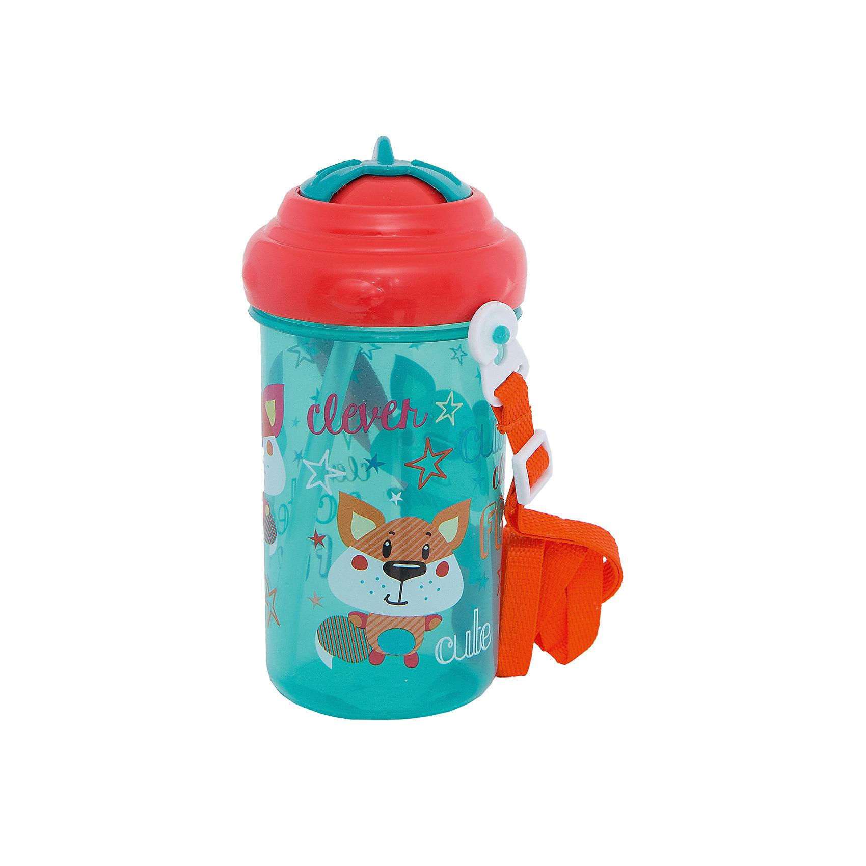 Canpol Babies Поильник спортивный с крышкой и трубочкой, 400 мл. 12+ Vehicles, Canpol Babies, зеленый pigeon чашка поильник mag mag с трубочкой зеленый с 8 мес 200 мл