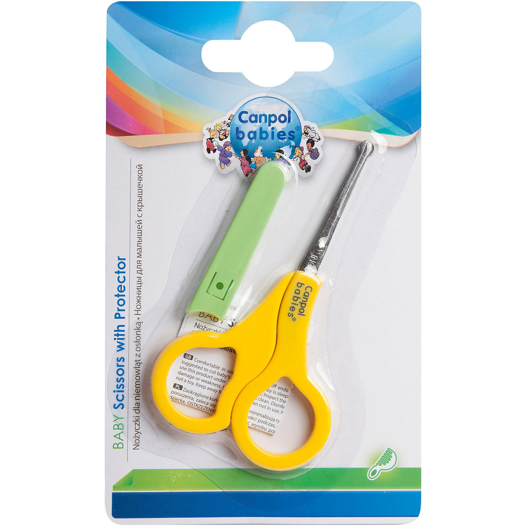 Ножницы безопасные в чехле, 0+, Canpol Babies, желтыйНожницы и щипчики<br>Ножницы безопасные в чехле, 0+, Canpol Babies (Канпол беби), желтый.<br><br>Характеристики:<br>• концы ножниц закруглены<br>• защитный чехол<br>• удобные для мамы кольца<br>• яркий дизайн<br>• качественные материалы<br>• размер упаковки: 1х9,5х15,5 см<br>• вес: 100 грамм<br>• цвет: желтый<br><br>Ножницы Canpol Babies удобны в использовании и полностью безопасны для ребенка. Закругленные концы не дадут ребенку пораниться. Большие кольца удобны для маминых пальцев. Яркий цвет ножниц отвлечет внимание малыша и позволит вам легко провести гигиенические процедуры.<br><br>Ножницы безопасные в чехле, 0+, Canpol Babies (Канпол беби), желтый можно купить в нашем интернет-магазине.<br><br>Ширина мм: 95<br>Глубина мм: 7<br>Высота мм: 155<br>Вес г: 130<br>Возраст от месяцев: 0<br>Возраст до месяцев: 36<br>Пол: Унисекс<br>Возраст: Детский<br>SKU: 5156730