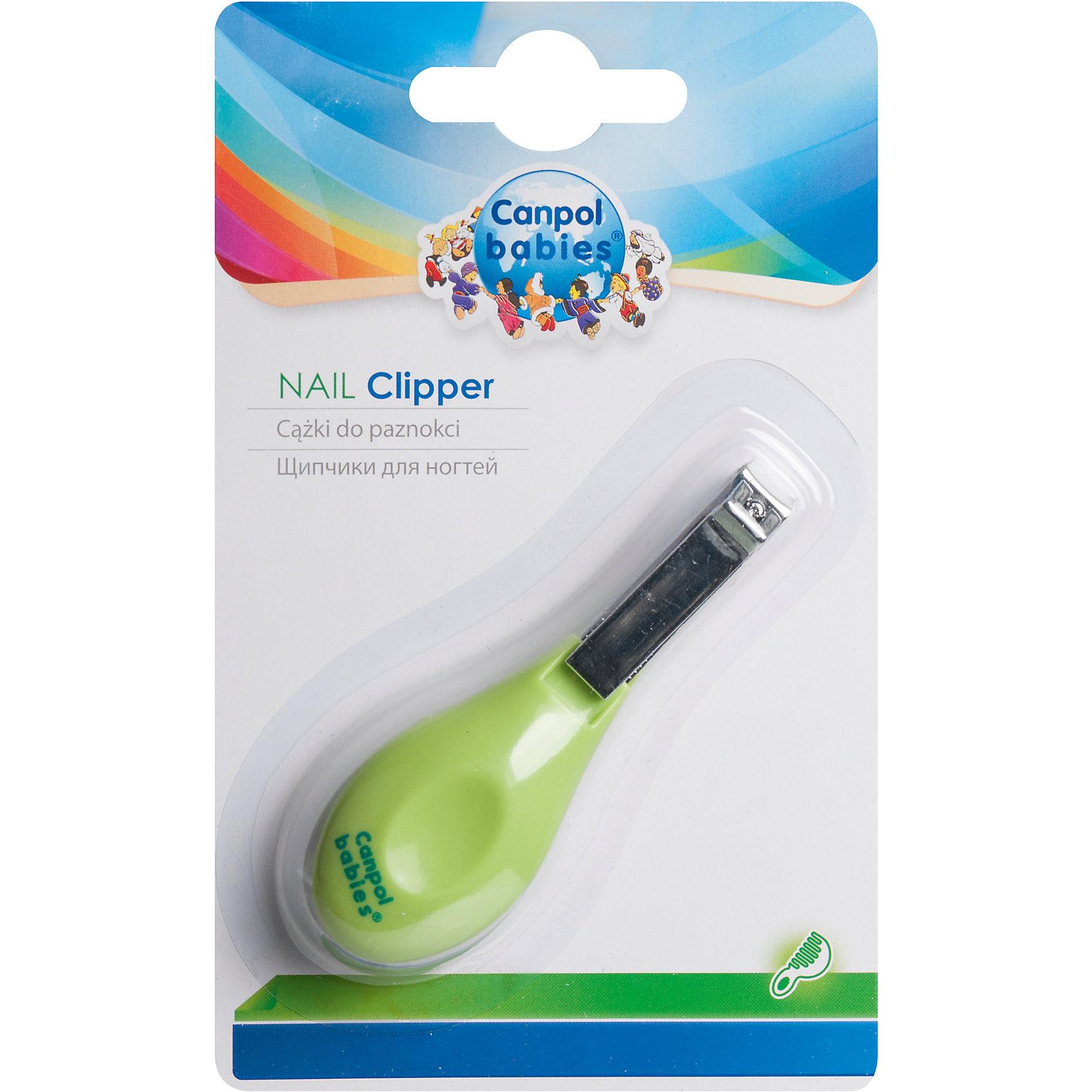 Щипчики для ногтей, 0+, Canpol Babies, салатовыйНожницы и щипчики<br>Щипчики для ногтей, 0+, Canpol Babies (Канпол Бейбис), салатовый<br>Характеристики:<br>• Материал: металл, пластик.<br>• Цвет: салатовый.<br>• Размер: 8,5х2,5x1 см.<br>• Размер упаковки: 9,5х15 см.<br><br>Щипчики для ногтей, 0+, Canpol Babies  (Канпол Бейбис),  помогут заботливой маме бережно ухаживать за крохотными пальчиками рук и ног. Они обеспечивают быстрый, безопасный уход за ногтями малыша. Благодаря эргономичной ручке их удобно держать и использовать.<br><br>Щипчики для ногтей, 0+, Canpol Babies (Канпол Бейбис), салатовый, можно купить в нашем интернет – магазине.<br><br>Ширина мм: 95<br>Глубина мм: 15<br>Высота мм: 155<br>Вес г: 180<br>Возраст от месяцев: 0<br>Возраст до месяцев: 18<br>Пол: Унисекс<br>Возраст: Детский<br>SKU: 5156754