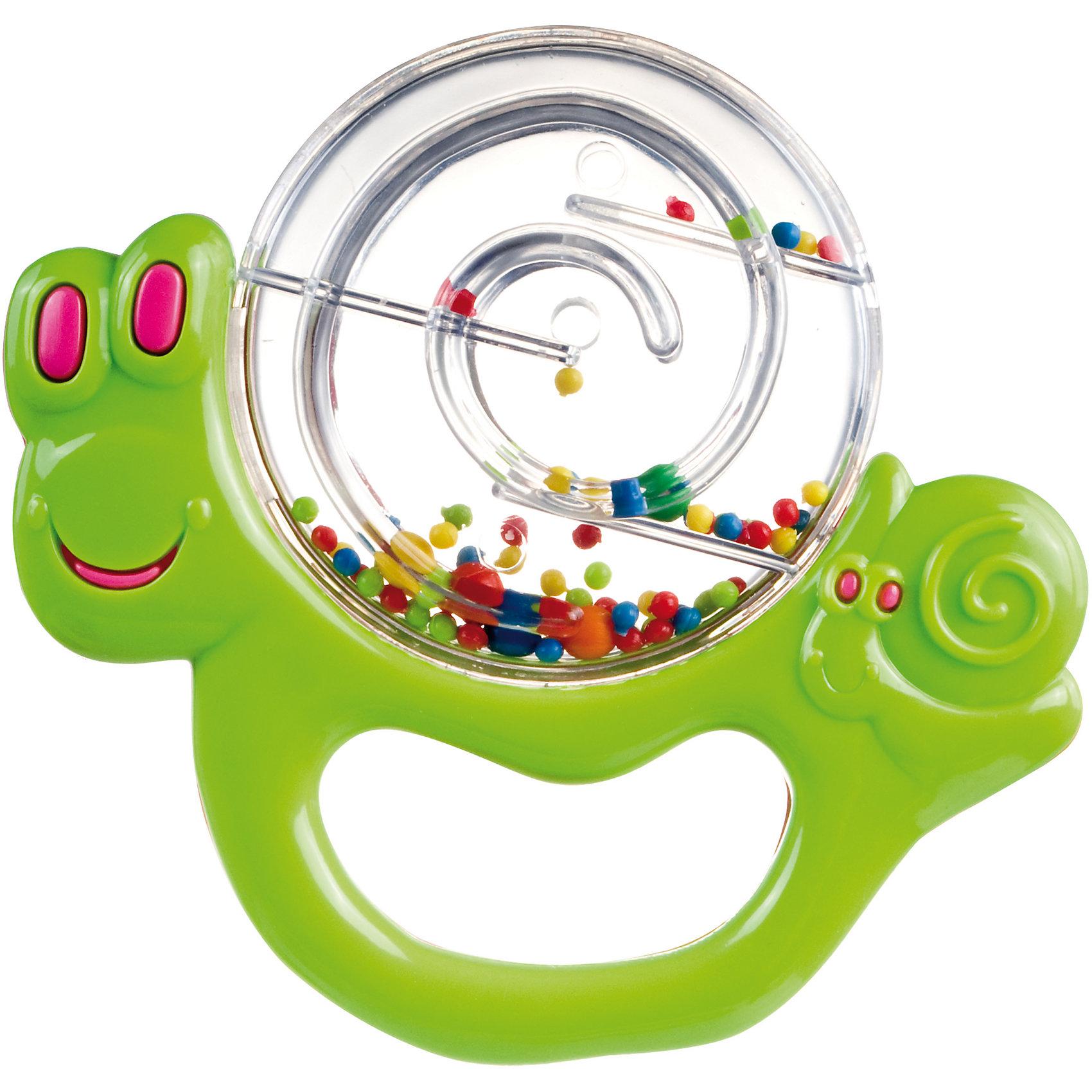 Погремушка Улитка, 0+, Canpol Babies, зеленыйИгрушки для малышей<br>Погремушка Улитка, 0+, Canpol Babies ( Канпол Бейбис), зеленый<br>Характеристики:<br>• Материал:  пластик.<br>• Цвет: зеленый.<br><br>Погремушка Улитка, 0+, Canpol Babies ( Канпол Бейбис), зеленый —  яркая и легкая игрушка, которую удобно держать в крошечных ручках. Она  сделана в форме забавной улитки из высококачественного пластика, который совершенно безопасен для здоровья вашего малыша! Карапузу будет удобно держать игрушку у себя в ручке! Играя с этой погремушкой, ребенок будет развивать моторику рук, тактильное и звуковое восприятие.<br><br>Погремушку Улитка, 0+, Canpol Babies ( Канпол Бейбис), зеленый можно купить в нашем интернет – магазине.<br><br>Ширина мм: 145<br>Глубина мм: 15<br>Высота мм: 200<br>Вес г: 400<br>Возраст от месяцев: 0<br>Возраст до месяцев: 18<br>Пол: Унисекс<br>Возраст: Детский<br>SKU: 5156762