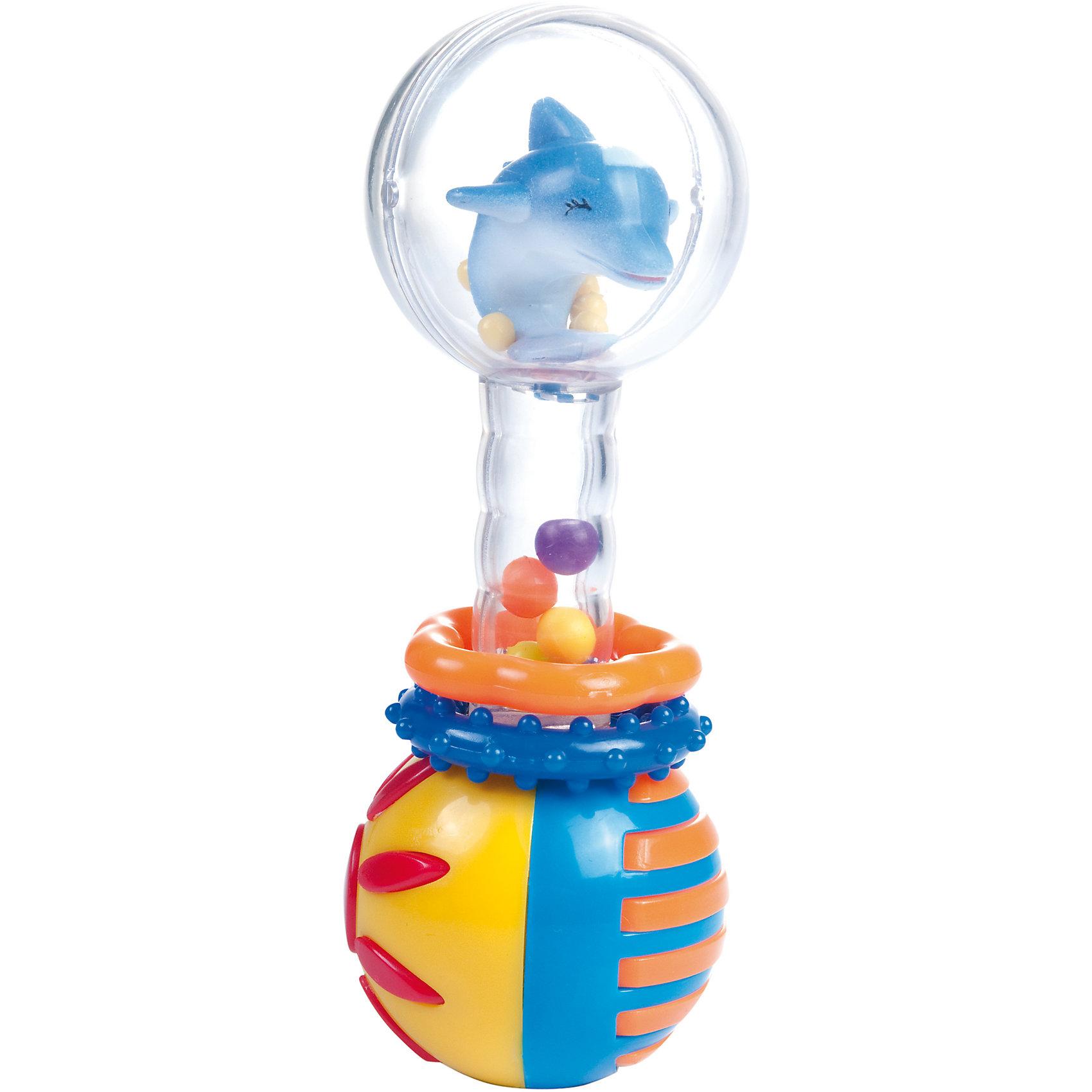 Погремушка-шарики Дельфин, 0+, Canpol BabiesПогремушка-шарики Дельфин, 0+, Canpol Babies ( Канпол Бейбис).<br>Характеристики:<br>• Материал:  пластик.<br>• Цвет: разноцветный.<br><br>Погремушка-шарики Дельфин, 0+, Canpol Babies ( Канпол Бейбис), —  яркая и легкая игрушка, которую удобно держать в крошечных ручках. Она  сделана в форме гантельки с забавной фигуркой дельфина внутри шара из высококачественного пластика, который совершенно безопасен для здоровья вашего малыша! Карапузу будет удобно держать игрушку у себя в ручке! Играя с этой погремушкой, ребенок будет развивать моторику рук, тактильное и звуковое восприятие.<br><br>Погремушка-шарики Дельфин, 0+, Canpol Babies ( Канпол Бейбис), можно купить в нашем интернет – магазине.<br><br>Ширина мм: 155<br>Глубина мм: 40<br>Высота мм: 210<br>Вес г: 560<br>Возраст от месяцев: 0<br>Возраст до месяцев: 18<br>Пол: Унисекс<br>Возраст: Детский<br>SKU: 5156768