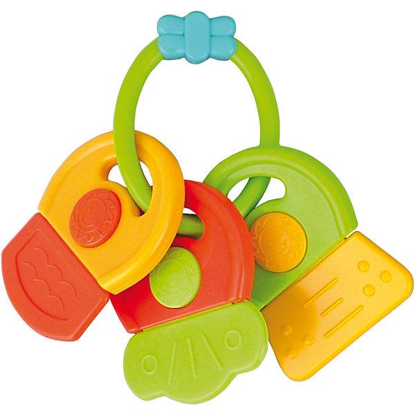 Погремушка-прорезыватель Ключи Символы, 0+, Canpol Babies, зеленыйПустышки<br>Погремушка - прорезыватель Ключи Символы, Canpol Babies ( Канпол Бейбис), зеленый.<br>Характеристики:<br>• Материал:  нетоксичный эластичный полимер.<br>• Цвет: зеленый.<br><br>Погремушка - прорезыватель Ключи Символы, Canpol Babies ( Канпол Бейбис), зеленый —  яркая и легкая игрушка, которую удобно держать в крошечных ручках. Она  сделана в форме разноцветных стилизованных ключиков из высококачественного эластичного полимера, который совершенно безопасен для здоровья вашего малыша! Карапузу будет удобно держать игрушку у себя в ручке! Когда начнут резаться молочные зубы, малыш сможет чесать десны с помощью такой игрушки. Играя с этой погремушкой, ребенок будет развивать моторику рук, тактильное и звуковое восприятие.<br><br>Погремушку - прорезыватель Ключи Символы ,Canpol Babies ( Канпол Бейбис), зеленый можно купить в нашем интернет – магазине.<br><br>Ширина мм: 145<br>Глубина мм: 31<br>Высота мм: 200<br>Вес г: 470<br>Возраст от месяцев: 0<br>Возраст до месяцев: 18<br>Пол: Унисекс<br>Возраст: Детский<br>SKU: 5156774