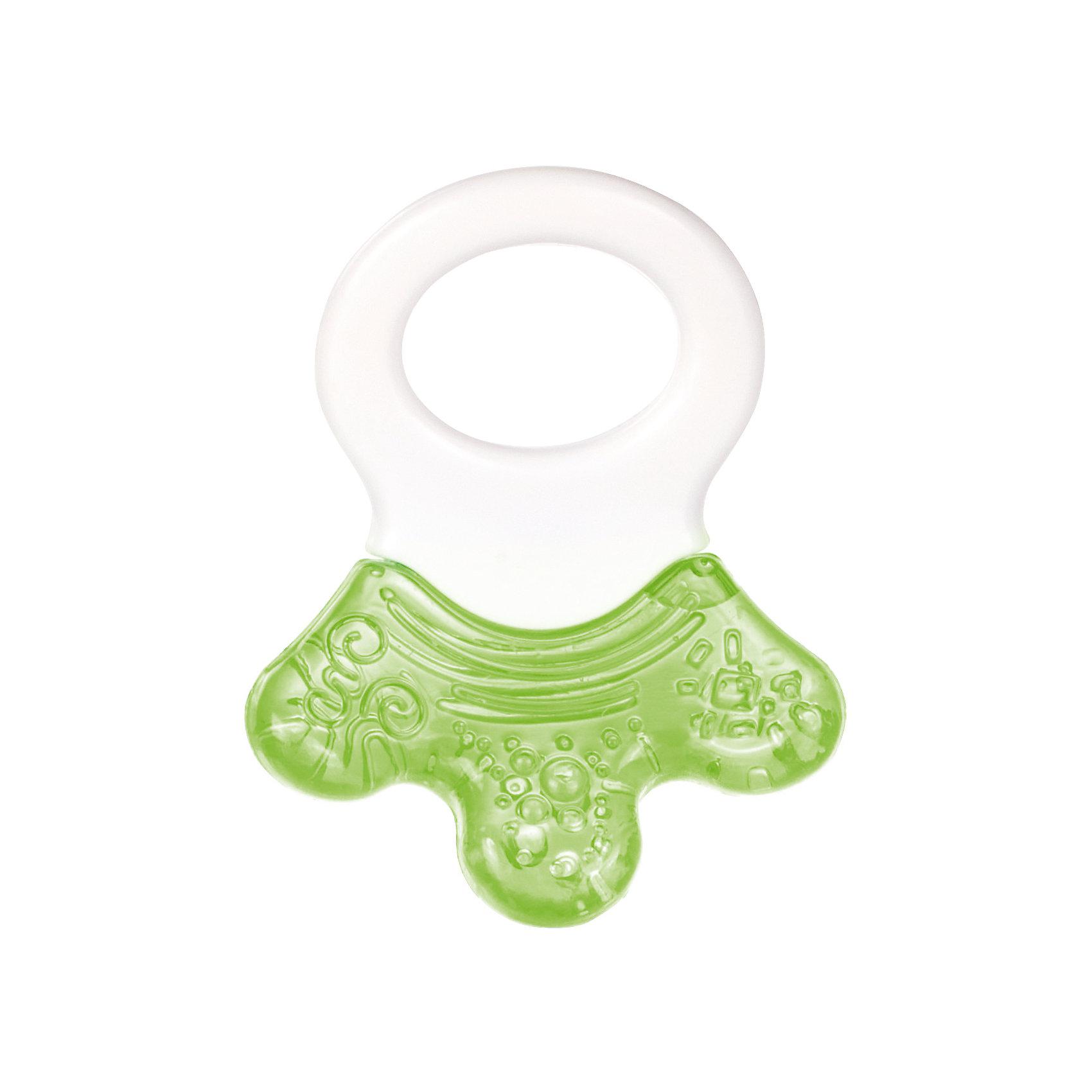 Прорезыватель водный с погремушкой - Лапка, 0+, Canpol Babies, зеленыйПрорезыватели<br>Прорезыватель водный с погремушкой - Лапка, 0+, Canpol Babies ( Канпол Бейбис), зеленый.<br>Характеристики:<br>• облегчает боль и снимает зуд<br>• изготовлен из безопасных материалов<br>• наполнен дистиллированной водой<br>• материал: пластик, силикон, вода<br><br>Прорезыватель водный с погремушкой - Лапка, 0+, Canpol Babies ( Канпол Бейбис), изготовлен из силикона, полностью безопасного для ребенка. Цвет- зеленый. Внутри находится дистиллированная вода, с помощью которой вы сможете охладить прорезыватель, положив его в холодильник. Прохладная игрушка снимет зуд и сведет к минимуму неприятные ощущения в деснах. Удобная ручка-погремушка, изготовленная из пластика, позволит крохе держать прорезыватель самостоятельно. Ребристая поверхность будет нежно массажировать десны ребенка. С этим прорезывателем вы сможете облегчить тяжелый период в жизни крохи!<br><br>Прорезыватель водный с погремушкой - Лапка, 0+, Canpol Babies ( Канпол Бейби), зеленый можно купить в нашем интернет – магазине.<br><br>Ширина мм: 115<br>Глубина мм: 30<br>Высота мм: 185<br>Вес г: 370<br>Возраст от месяцев: 0<br>Возраст до месяцев: 18<br>Пол: Унисекс<br>Возраст: Детский<br>SKU: 5156777
