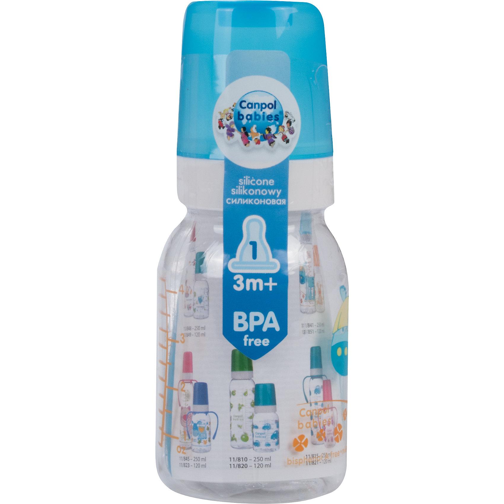 Бутылочка тритановая (BPA 0%) с сил. соской, 120 мл. 3+ Cheerful animals, Canpol Babies, лошадка110 - 180 мл.<br>Бутылочка тритановая (BPA 0%) с сил. соской, 120 мл. 3+ Cheerful animals, Canpol Babies, (Канпол Бейбис), лошадка.<br><br>Характеристики: <br><br>• Объем бутылочки: 120мл.<br>• Материал бутылочки: тритан - пластик нового поколения.<br>• Материал соски: силикон.<br>• Цвет : синий. <br>Бутылочка тритановая (BPA 0%) с сил. соской, 120 мл. 3+ Cheerful animals, Canpol Babies, (Канпол Бейбис) имеет классическую форму. Удобна в использовании дома и в дороге. Бутылочка выполнена из безопасного качественного материала - тритана, который хорошо держит тепло, снабжена силиконовой соской (медленный поток) и защитным колпачком, имеет удобную мерную шкалу.  Такую бутылочку и все части можно кипятить в воде или стерилизовать с помощью специального прибора. Не впитывает запахи. Бутылочка выполнена в синем цвете, украшена  забавным принтом – лошадка.<br>Бутылочка тритановая (BPA 0%) с сил. соской, 120 мл. 3+ Cheerful animals, Canpol Babies, (Канпол Бейбис), лошадка можно купить в нашем интернет- магазине.<br><br>Ширина мм: 65<br>Глубина мм: 54<br>Высота мм: 175<br>Вес г: 520<br>Возраст от месяцев: 3<br>Возраст до месяцев: 18<br>Пол: Унисекс<br>Возраст: Детский<br>SKU: 5156801