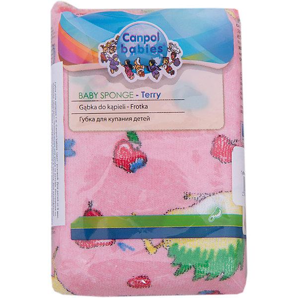 Губка махровая, Canpol Babies, розовыйТовары для купания<br>Губка махровая, Canpol Babies (Канпол Бейбис), розовый.<br><br>Характеристики:<br>• Материал:  х/б полотно, пенополиуретан..<br>• Цвет: розовый.<br>• Размер: 12х8х4 см.<br><br>Губка махровая, Canpol Babies (Канпол Бейбис) для купания специально предназначена для деликатного купания маленького ребенка. Губка изготовлена из поролона и махровой ткани. Ее мягкая моющая поверхность нежно ухаживает за кожей малыша. Яркие расцветки привлекут внимание малыша и создадут подходящее настроение для купания. Изготовлена из качественного сырья, не вызывает аллергии. Подходит для использования у малышей с рождения.<br><br>Губку махровую, Canpol Babies (Канпол Бейбис), розовую можно купить в нашем интернет – магазине.<br><br>Ширина мм: 130<br>Глубина мм: 45<br>Высота мм: 80<br>Вес г: 150<br>Возраст от месяцев: 0<br>Возраст до месяцев: 36<br>Пол: Женский<br>Возраст: Детский<br>SKU: 5156819