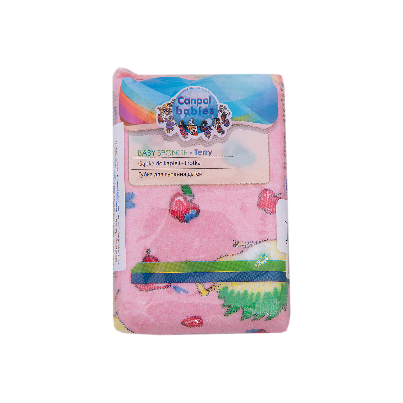 Canpol Babies Губка махровая, Canpol Babies, розовый  canpol babies губка для купания marble цвет голубой