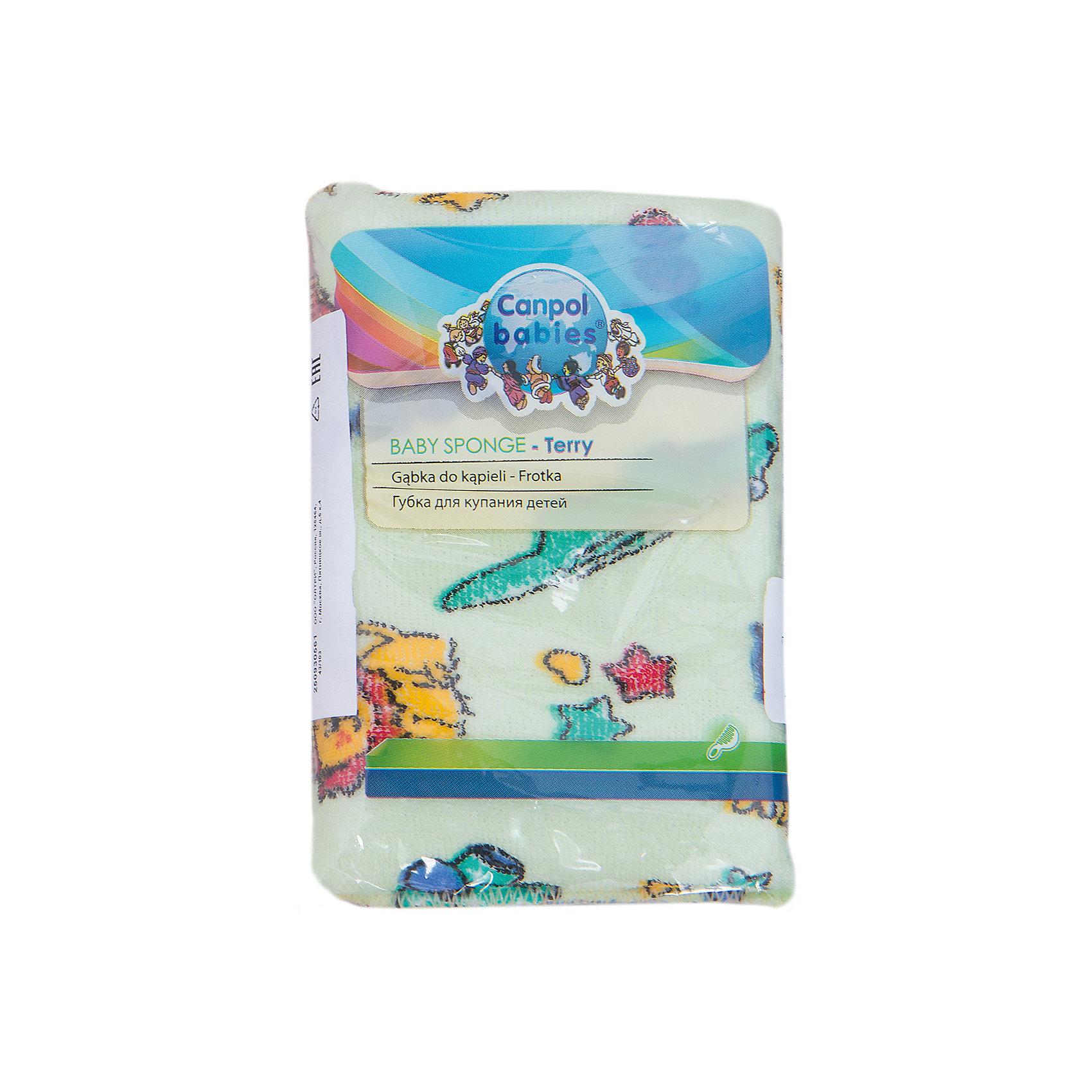 Canpol Babies Губка махровая, Canpol Babies, зеленый  canpol babies губка для купания marble цвет голубой