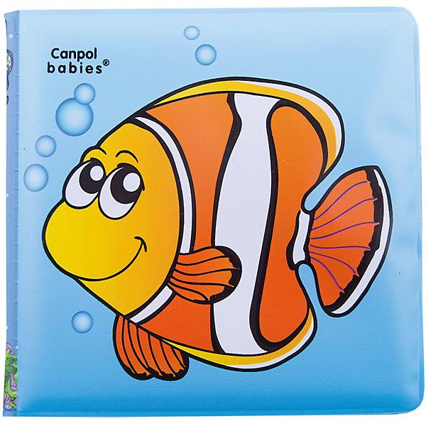 Книжка с пищалкой Рыбка 6+, Canpol BabiesКнижки для купания<br>Книжка с пищалкой, 6+, Canpol Babies (Канпол Бейбис), рыбка.<br>Характеристики:<br>• Материал: мягкий, нетоксичный<br>• Размер: 2см х 13х 20 см.<br>• Возраст: 6+.<br>• Цвет: красочная.<br><br>Книжка с пищалкой, 6+ - красивая книжка для малышей с 6 месяцев. Яркие рисунки заинтересуют ребенка, а звук пищалки дополнительно привлечет внимание. Ребенок с любопытством будет рассматривать цветные картинки, представляющие разные объекты. Данная книжечка иллюстрирована картинками с рыбкой. Играя и рассматривая книжечку,  малыш развивает цветовое восприятие и координацию движений. Книжка изготовлена из безопасных, нетоксичных материалов, ее легко содержать в чистоте и даже можно брать ее с собой в ванну.<br><br>Книжку с пищалкой, 6+, Canpol Babies (Канпол Бейбис), рыбка можно купить в нашем интернет – магазине.<br>Ширина мм: 137; Глубина мм: 20; Высота мм: 220; Вес г: 300; Возраст от месяцев: 6; Возраст до месяцев: 36; Пол: Унисекс; Возраст: Детский; SKU: 5156827;