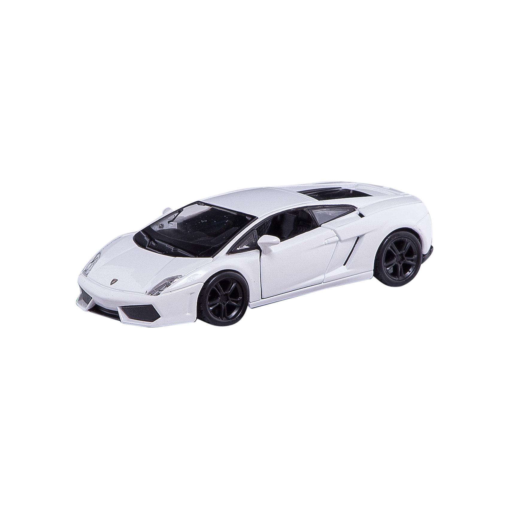 Машина Lamborghini Gallardo, 1:32, белая, BburagoМашинки<br>Характеристики товара:<br><br>- цвет: белый;<br>- материал: пластик, металл;<br>- габариты упаковки: 27х23х9 см;<br>- масштаб: 1:32;<br>- открывается багажник и двери, вперед и вверх.<br><br>Спортивные машинки – безусловные фавориты среди детских игрушек для мальчиков.Такая машинка марки Lamborghini Gallardo – желанный подарок для всех ребят. Она очень похожа на настоящую машину и прекрасно детализирована! Материалы, использованные при создании изготовлении изделия, полностью безопасны и отвечают всем международным требованиям по качеству детских товаров.<br><br>Игрушку Машина Lamborghini Gallardo, 1:32, белая от бренда Bburago можно купить в нашем интернет-магазине.<br><br>Ширина мм: 270<br>Глубина мм: 230<br>Высота мм: 90<br>Вес г: 245<br>Возраст от месяцев: 36<br>Возраст до месяцев: 2147483647<br>Пол: Мужской<br>Возраст: Детский<br>SKU: 5156835