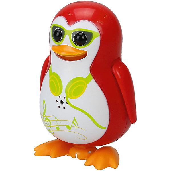 Поющий пингвин с кольцом, красный, DigiBirdsИнтерактивные животные<br>Характеристики товара:<br><br>- цвет: красный;<br>- материал: пластик, металл;<br>- батарейки: 3xAG13/LR44, в комплекте;<br>- размер упаковки: 16x10x7 см;<br>- умеет петь, танцевать.<br><br>Такая игрушка в виде пингвина поможет ребенку весело проводить время - она умеет петь и танцевать. Это выглядит очень забавно! Игрушка реагирует на звук от специального свистка, который входит в комплект, или на дуновение. Также можно приобрести другие игрушки из этой серии - тогда они будут петь хором!<br>Пингвин способен помогать всестороннему развитию ребенка: развивать тактильное восприятие, мелкую моторику, воображение, внимание и логику. Изделие произведено из качественных материалов, безопасных для ребенка. Набор станет отличным подарком детям!<br><br>Игрушку Поющий пингвин с кольцом, красный от бренда DigiBirds можно купить в нашем интернет-магазине.<br>Ширина мм: 64; Глубина мм: 152; Высота мм: 102; Вес г: 91; Цвет: красный; Возраст от месяцев: 36; Возраст до месяцев: 2147483647; Пол: Женский; Возраст: Детский; SKU: 5156840;