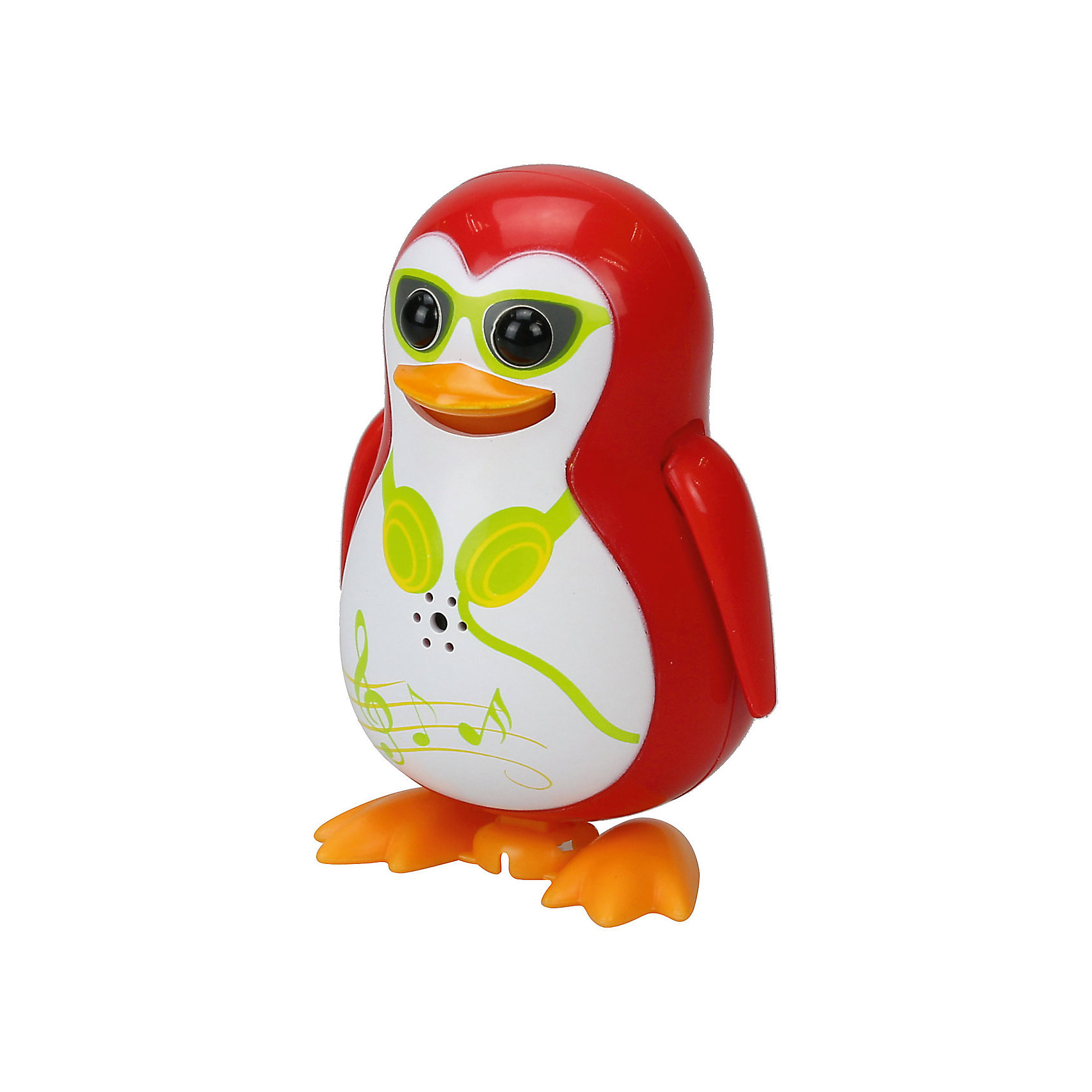 Silverlit Поющий пингвин с кольцом, красный, DigiBirds silverlit digibirds пингвин фигурист с кольцом серый