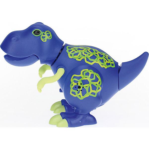 Поющий динозавр Digi Dinos, TroyИнтерактивные животные<br>Характеристики товара:<br><br>- цвет: синий;<br>- материал: пластик, металл;<br>- батарейки: 3xAG13/LR44, в комплекте;<br>- размер упаковки: 16x10x7 см;<br>- габариты игрушки: 6,5x10x15 см;<br>- умеет петь, рычать, записывать звуки, шевелить головой и хвостом.<br><br>Такая игрушка в виде динозавра поможет ребенку весело проводить время - динозавр умеет петь, рычать, записывать звуки, шевелить головой и хвостом. Это выглядит очень забавно! Игрушка реагирует на звук от специального свистка, который входит в комплект. Также можно приобрести другие игрушки из этой серии - тогда они будут петь хором!<br>Динозавр способен помогать всестороннему развитию ребенка: развивать тактильное восприятие, мелкую моторику, воображение, внимание и логику. Изделие произведено из качественных материалов, безопасных для ребенка. Набор станет отличным подарком детям!<br><br>Игрушку Динозавр от бренда Silverlit можно купить в нашем интернет-магазине.<br><br>Ширина мм: 115<br>Глубина мм: 150<br>Высота мм: 62<br>Вес г: 128<br>Возраст от месяцев: 36<br>Возраст до месяцев: 2147483647<br>Пол: Унисекс<br>Возраст: Детский<br>SKU: 5156845
