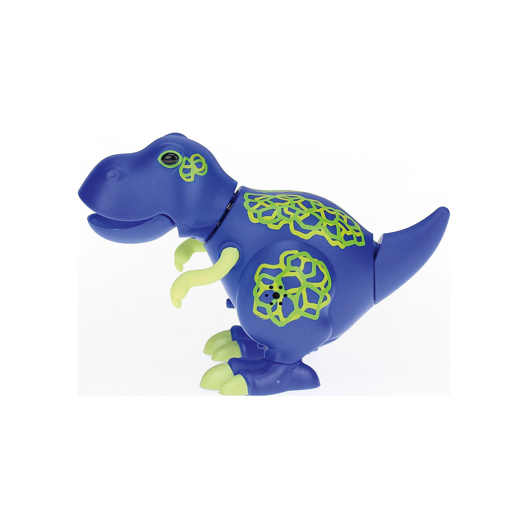 Поющий динозавр Digi Dinos, TroyХарактеристики товара:<br><br>- цвет: синий;<br>- материал: пластик, металл;<br>- батарейки: 3xAG13/LR44, в комплекте;<br>- размер упаковки: 16x10x7 см;<br>- габариты игрушки: 6,5x10x15 см;<br>- умеет петь, рычать, записывать звуки, шевелить головой и хвостом.<br><br>Такая игрушка в виде динозавра поможет ребенку весело проводить время - динозавр умеет петь, рычать, записывать звуки, шевелить головой и хвостом. Это выглядит очень забавно! Игрушка реагирует на звук от специального свистка, который входит в комплект. Также можно приобрести другие игрушки из этой серии - тогда они будут петь хором!<br>Динозавр способен помогать всестороннему развитию ребенка: развивать тактильное восприятие, мелкую моторику, воображение, внимание и логику. Изделие произведено из качественных материалов, безопасных для ребенка. Набор станет отличным подарком детям!<br><br>Игрушку Динозавр от бренда Silverlit можно купить в нашем интернет-магазине.<br><br>Ширина мм: 115<br>Глубина мм: 150<br>Высота мм: 62<br>Вес г: 128<br>Возраст от месяцев: 36<br>Возраст до месяцев: 2147483647<br>Пол: Унисекс<br>Возраст: Детский<br>SKU: 5156845