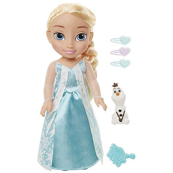 Кукла-малышка Холодное сердце с аксессуарами, Эльза, 35 см.Популярные игрушки<br>Кукла Эльза, 35 см, Холодное Сердце.<br><br>Характеристики:<br><br>- В комплекте: кукла, расческа, 3 заколки, фигурка снеговика Олафа<br>- Высота куклы: 35 см.<br>- Материал: пластик, текстиль<br><br>Кукла-малышка Эльза создана по мотивам популярного анимационного фильма Холодное сердце и наверняка понравится каждой его поклоннице! Эльза выглядит очень реалистично благодаря выразительным чертам лица, а особенно большим голубым глазкам. На кукле надето изящное платье голубого цвета, украшенное снежинками, а ее роскошные светлые волосы заплетены в косу. Кукла выполнена из высококачественных материалов, выглядит ярко и эффектно. В комплекте также прилагаются дополнительные аксессуары: заколки, расческа и фигурка уморительного снеговичка Олафа.<br><br>Куклу Эльза, 35 см, Холодное Сердце купить в нашем интернет-магазине.<br>Ширина мм: 170; Глубина мм: 390; Высота мм: 110; Вес г: 260; Возраст от месяцев: 36; Возраст до месяцев: 2147483647; Пол: Женский; Возраст: Детский; SKU: 5156886;