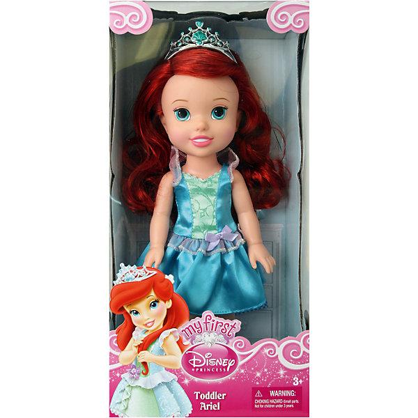 Кукла-малышка Принцессы Диснея Ариэель, 31 см.Принцессы Дисней<br>Кукла Ариэль, 31 см, Холодное сердце.<br><br>Характеристики:<br><br>- В комплекте: кукла, тиара<br>- Высота куклы: 31 см.<br>- Материал: пластик, текстиль<br>- Особенности: настоящие мягкие волосы<br>- Упаковка: картонная коробка с дисплеем<br><br>Кукла-малышка Ариэль создана по мотивам популярного мультсериала Дисней «Русалочка» и наверняка понравится каждой его поклоннице! Маленькая принцесса Дисней одета в стильное нарядное атласное платье голубого цвета с розовыми вставками, которое сочетается с удобными туфельками и маленькой изящной тиарой. У куклы шикарные шелковистые рыжие волосы, из которых можно создавать самые разные прически. Кукла выполнена из высококачественных материалов, выглядит очень мило.<br><br>Куклу Ариэль, 31 см, Холодное сердце купить в нашем интернет-магазине.<br><br>Ширина мм: 170<br>Глубина мм: 350<br>Высота мм: 120<br>Вес г: 601<br>Возраст от месяцев: 36<br>Возраст до месяцев: 2147483647<br>Пол: Женский<br>Возраст: Детский<br>SKU: 5156888
