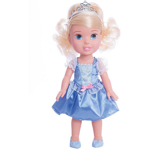 Кукла-малышка Принцессы Диснея Золушка, 31 см.Куклы<br>Кукла Золушка, 31 см<br><br>Характеристики:<br><br>- В комплекте: кукла, тиара<br>- Высота куклы: 31 см.<br>- Материал: пластик, текстиль<br>- Особенности: настоящие мягкие волосы<br>- Упаковка: картонная коробка с дисплеем<br><br>Кукла-малышка Золушка создана по мотивам фильма Дисней «Золушка» и наверняка понравится каждой его поклоннице! Маленькая принцесса Дисней одета в стильное нарядное атласное платье голубого цвета с белым кружевом и маленьким розовым бантиком, которое сочетается с удобными туфельками и маленькой изящной тиарой. У куклы шелковистые светлые волосы, из которых можно создавать самые разные прически. Кукла выполнена из высококачественных материалов, выглядит очень мило.<br><br>Куклу Золушка, 31 см, Холодное сердце купить в нашем интернет-магазине.<br><br>Ширина мм: 170<br>Глубина мм: 350<br>Высота мм: 120<br>Вес г: 604<br>Возраст от месяцев: 36<br>Возраст до месяцев: 2147483647<br>Пол: Женский<br>Возраст: Детский<br>SKU: 5156891
