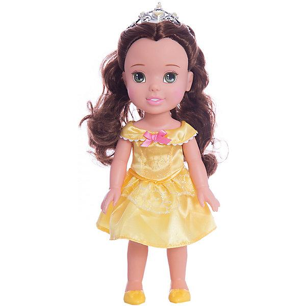 Кукла-малышка Принцессы Диснея Белль, 31 см.Куклы<br>Кукла Белль, 31 см<br><br>Характеристики:<br><br>- В комплекте: кукла, тиара<br>- Высота куклы: 31 см.<br>- Материал: пластик, текстиль<br>- Особенности: настоящие мягкие волосы<br>- Упаковка: картонная коробка с дисплеем<br><br>Кукла-малышка Белль создана по мотивам популярного мультсериала Дисней «Красавица и Чудовище» и наверняка понравится каждой его поклоннице! Маленькая принцесса Дисней одета в нарядное атласное платье желтого цвета, украшенное розовым бантиком, которое сочетается с удобными туфельками и маленькой изящной тиарой. У куклы шикарные шелковистые темные волосы, из которых можно создавать самые разные прически. Кукла выполнена из высококачественных материалов, выглядит очень мило.<br><br>Куклу Белль, 31 см, Холодное сердце купить в нашем интернет-магазине.<br><br>Ширина мм: 170<br>Глубина мм: 350<br>Высота мм: 120<br>Вес г: 605<br>Возраст от месяцев: 36<br>Возраст до месяцев: 2147483647<br>Пол: Женский<br>Возраст: Детский<br>SKU: 5156892